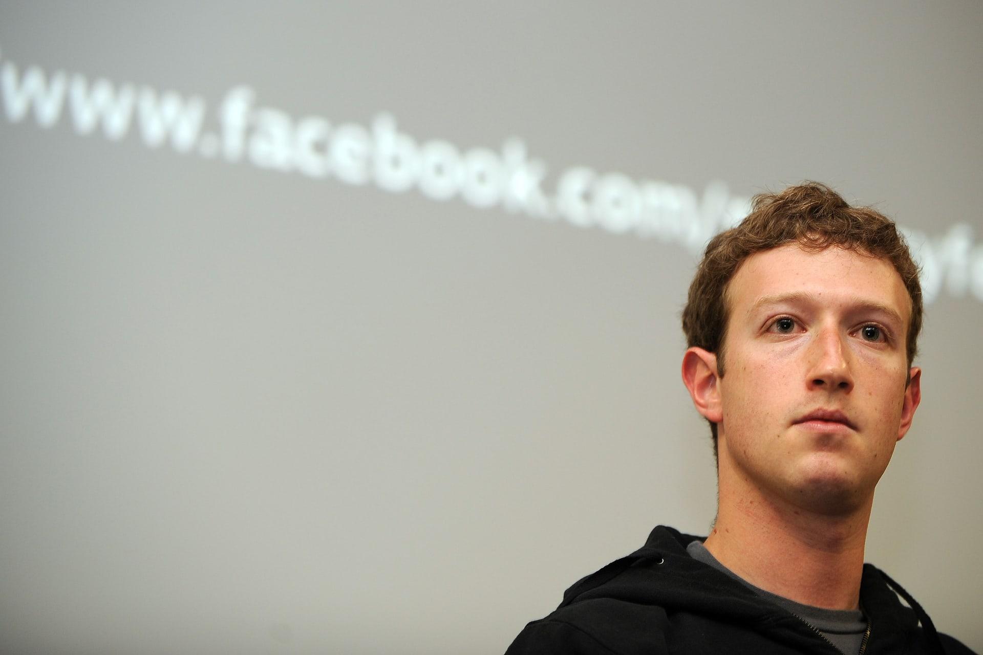 مارك زوكربيرغ المدير التنفيذي لشركة فيسبوك