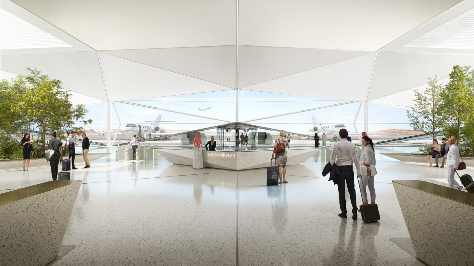 السعودية تكشف النقاب عن تصميم مطار جديد مستوحى من سراب الصحراء.. كيف سيبدو؟