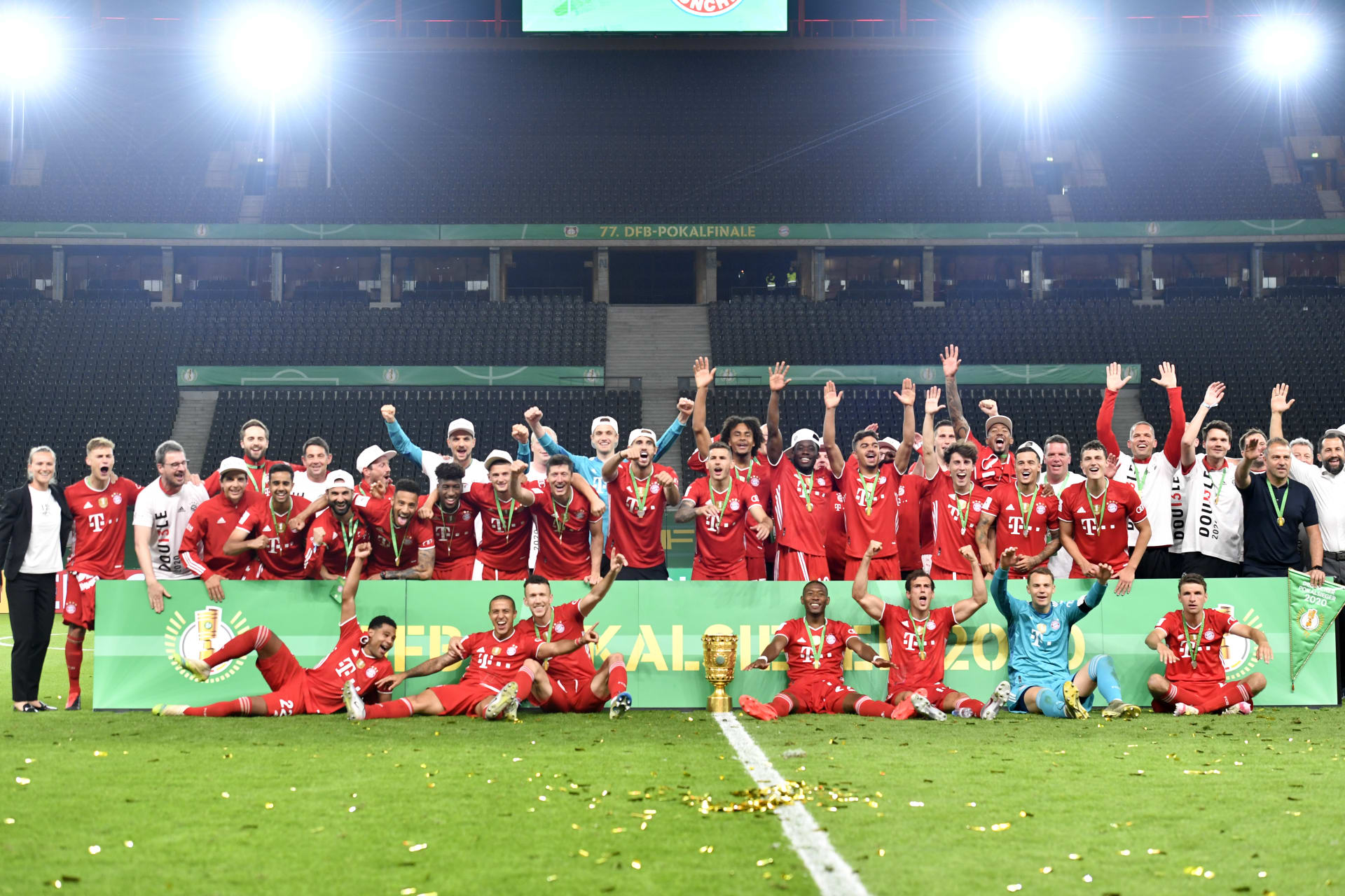 فوز بايرن ميونخ بكأس ألمانيا يمنحه العديد من الأرقام القياسية