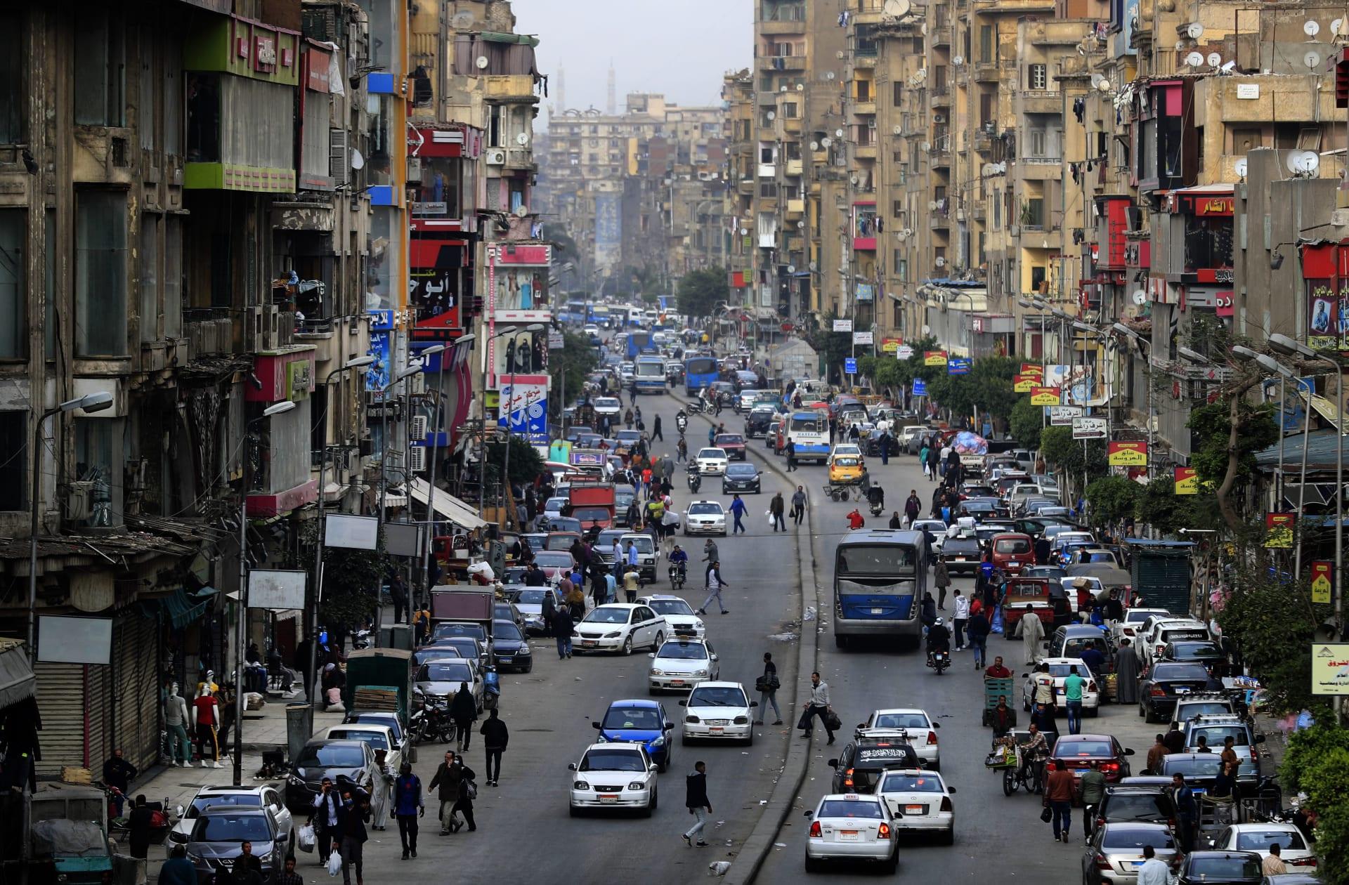 أحد شوارع العاصمة المصرية القاهرة