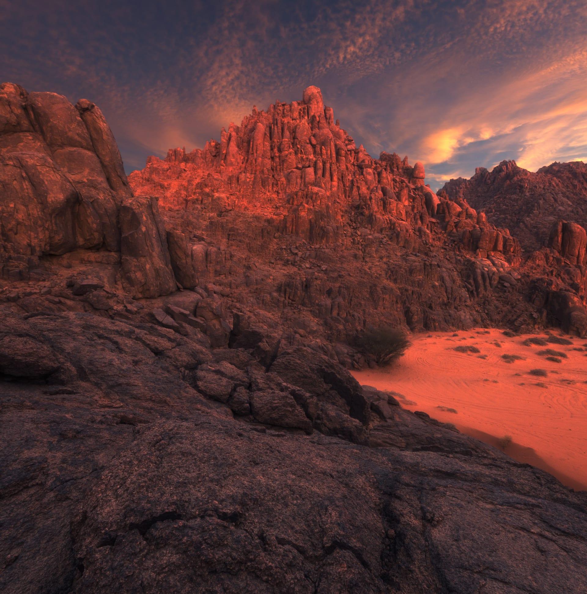 جبال أجا في حائل