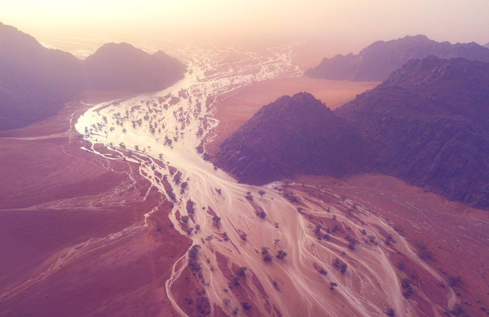 جبال أجا حائل في السعودية