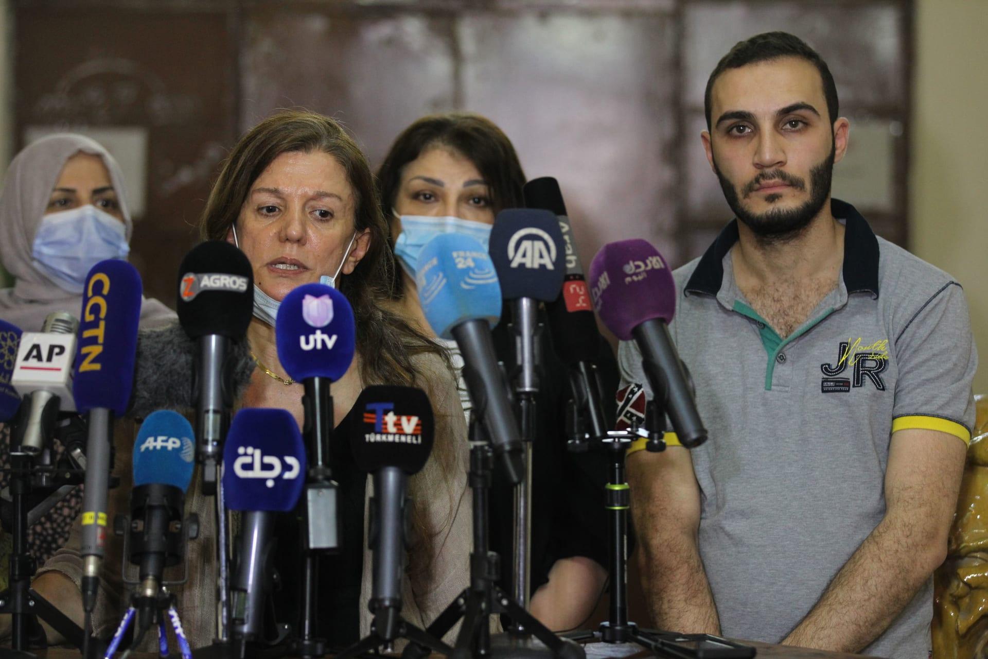 مؤتمر صحفي في أعقاب اختطاف الناشطة الألمانية هيلا مويس في بغداد قبل أيام