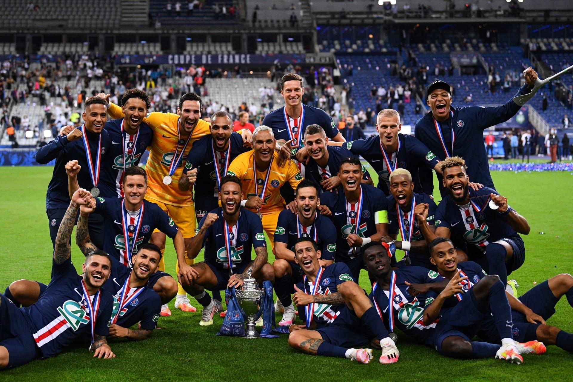 باريس سان جيرمان يحصد كأس فرنسا بهدف نيمار.. وإصابة إمبابي تثير حزن الجماهير