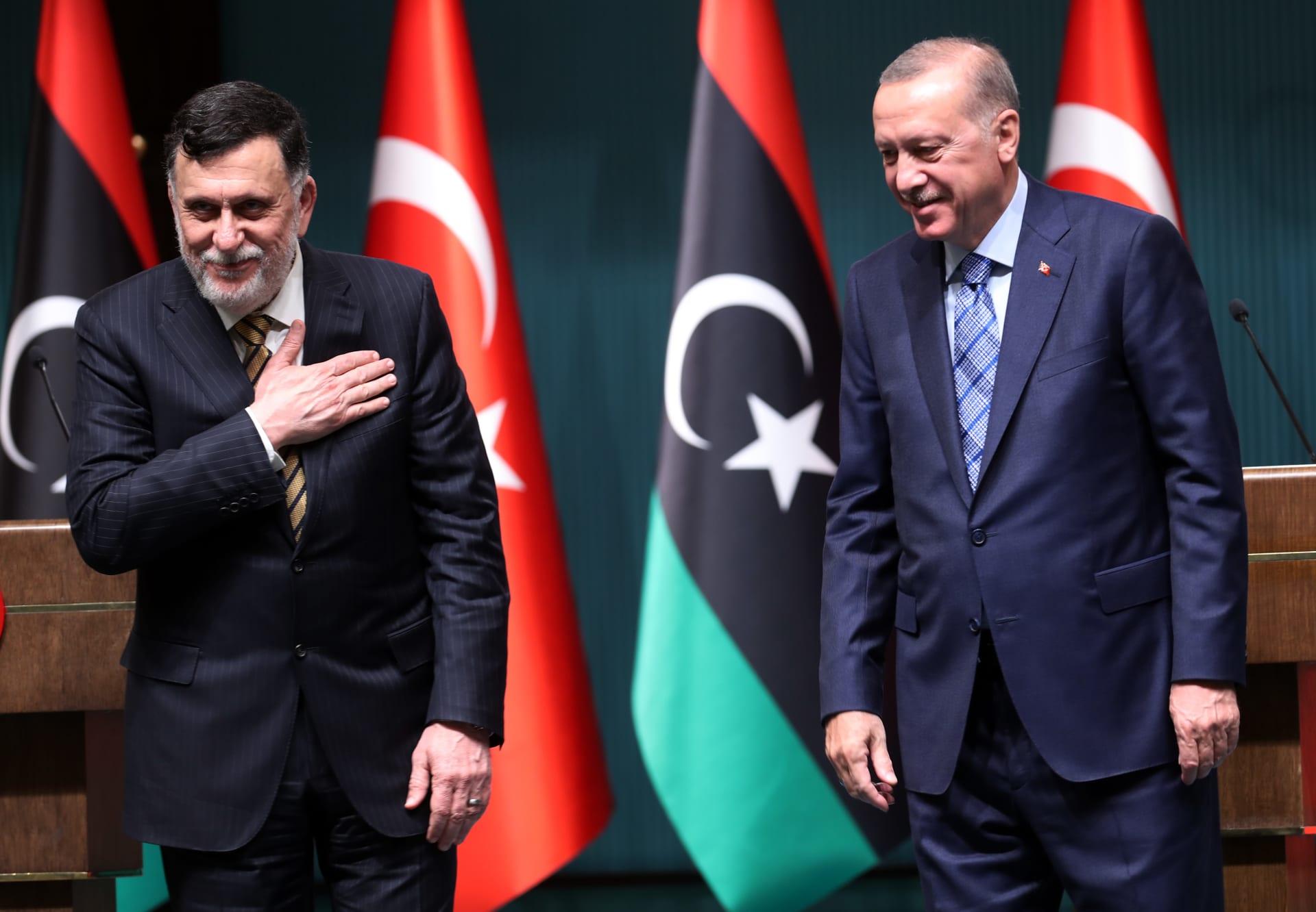 أردوغان يستقبل السراج بعد اتصال مع رئيس الوزراء الإيطالي بشان ليبيا