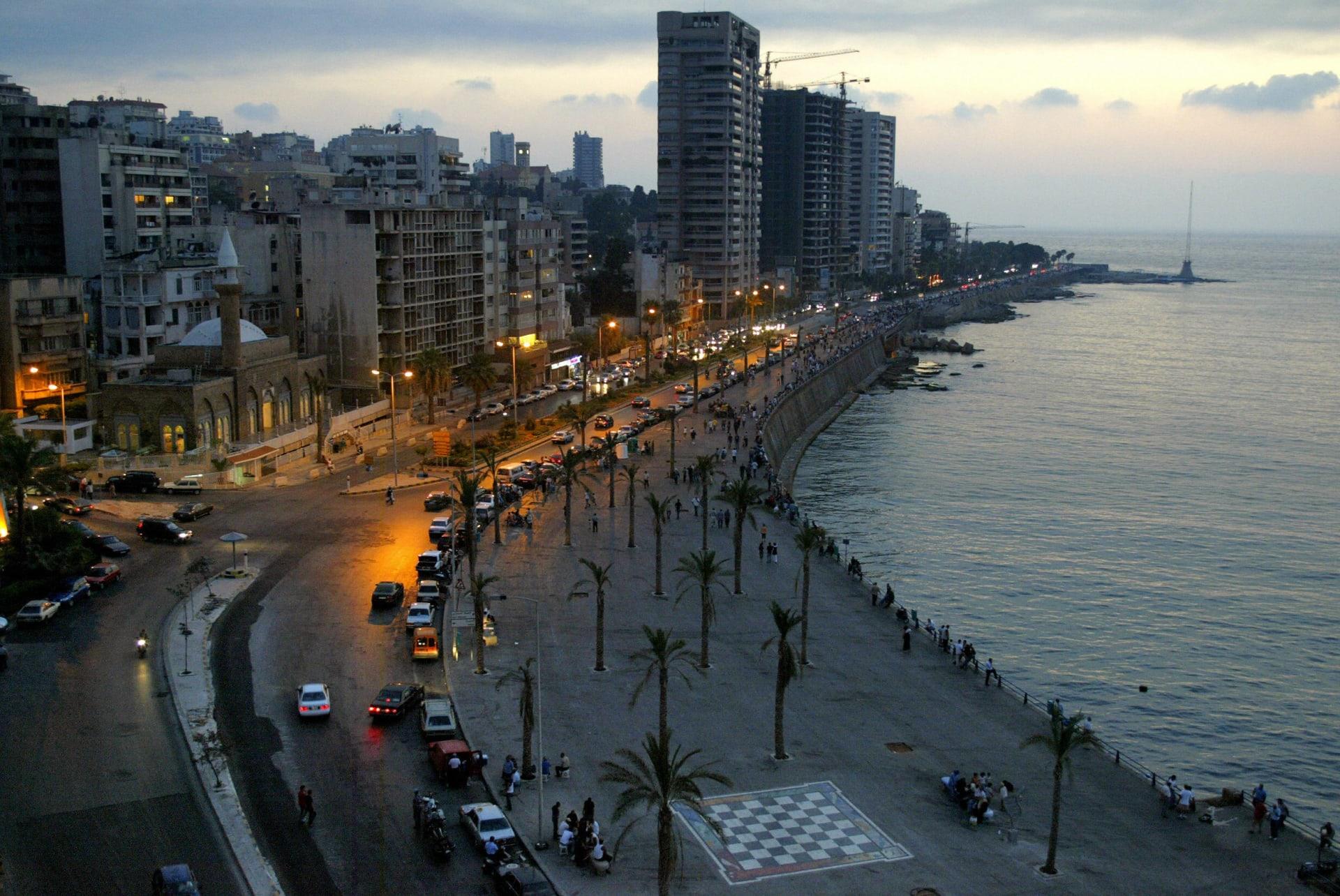 منظر عام من العاصمة اللبنانية، بيروت