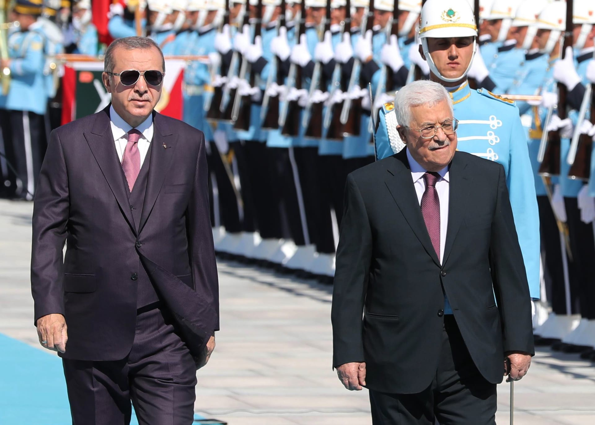 محمود عباس يُطلع أردوغان على الاتصالات مع حماس ويُرحب بتحويل آيا صوفيا لمسجد