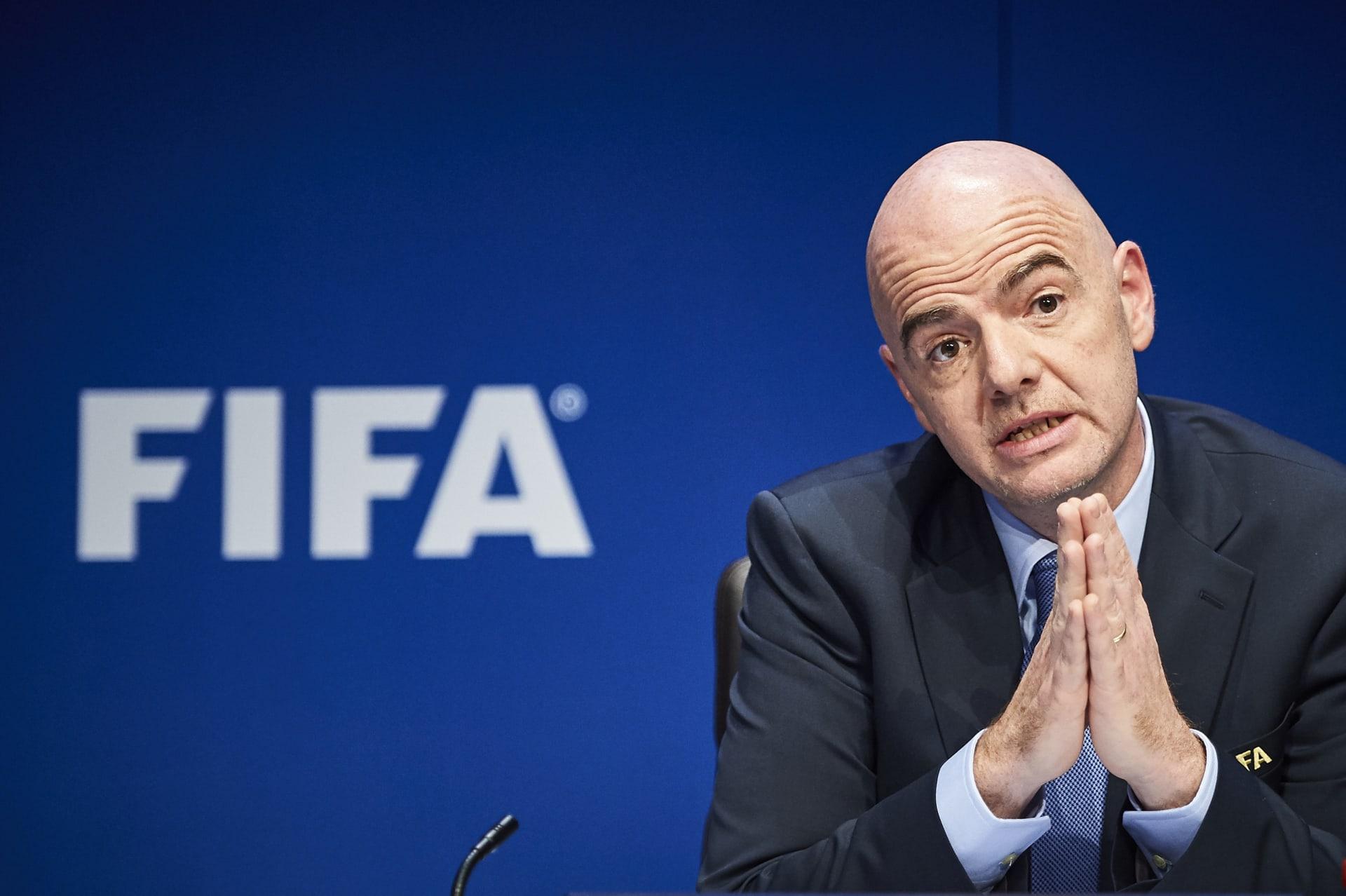 جياني إنفانتينو رئيس الاتحاد الدولي لكرة القدم فيفا