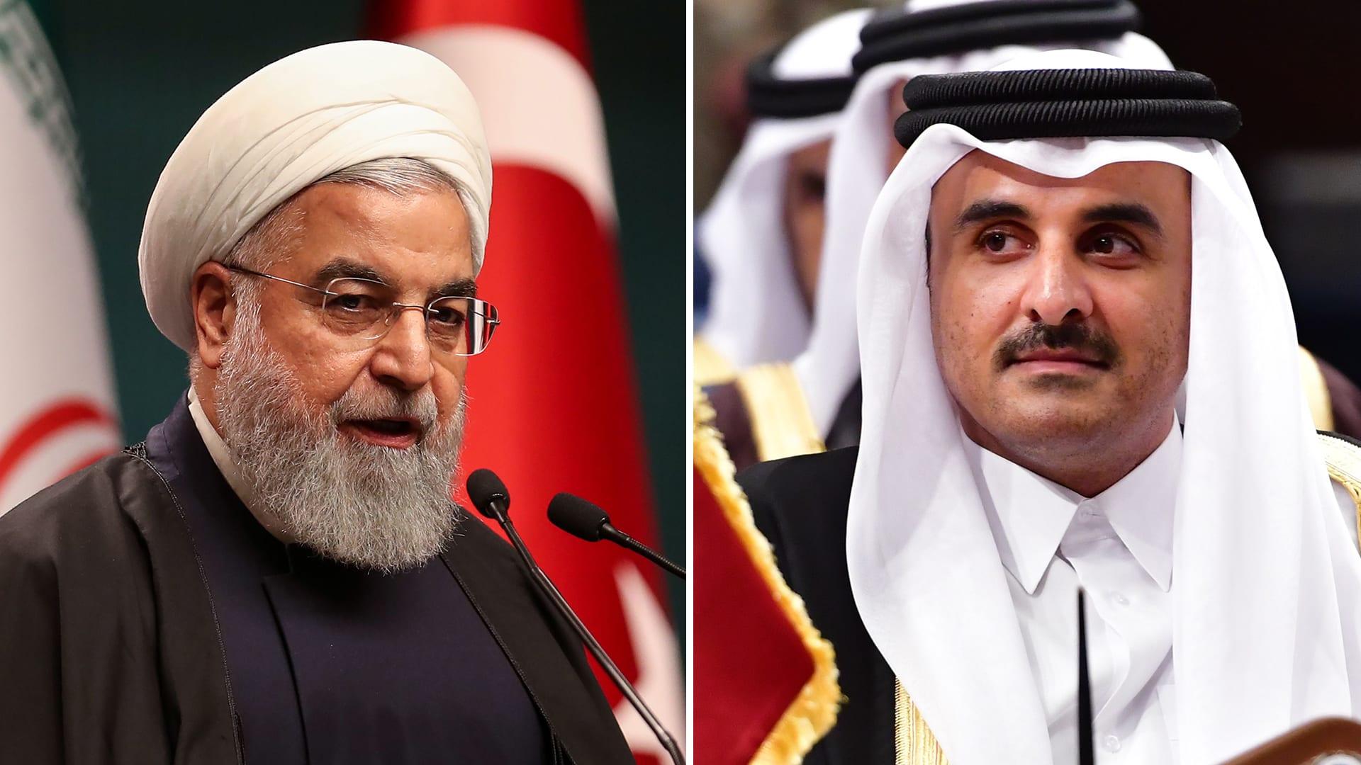 روحاني في اتصال مع أمير قطر: طهران لا تضع أي قيود لتنمية علاقاتها مع الدوحة