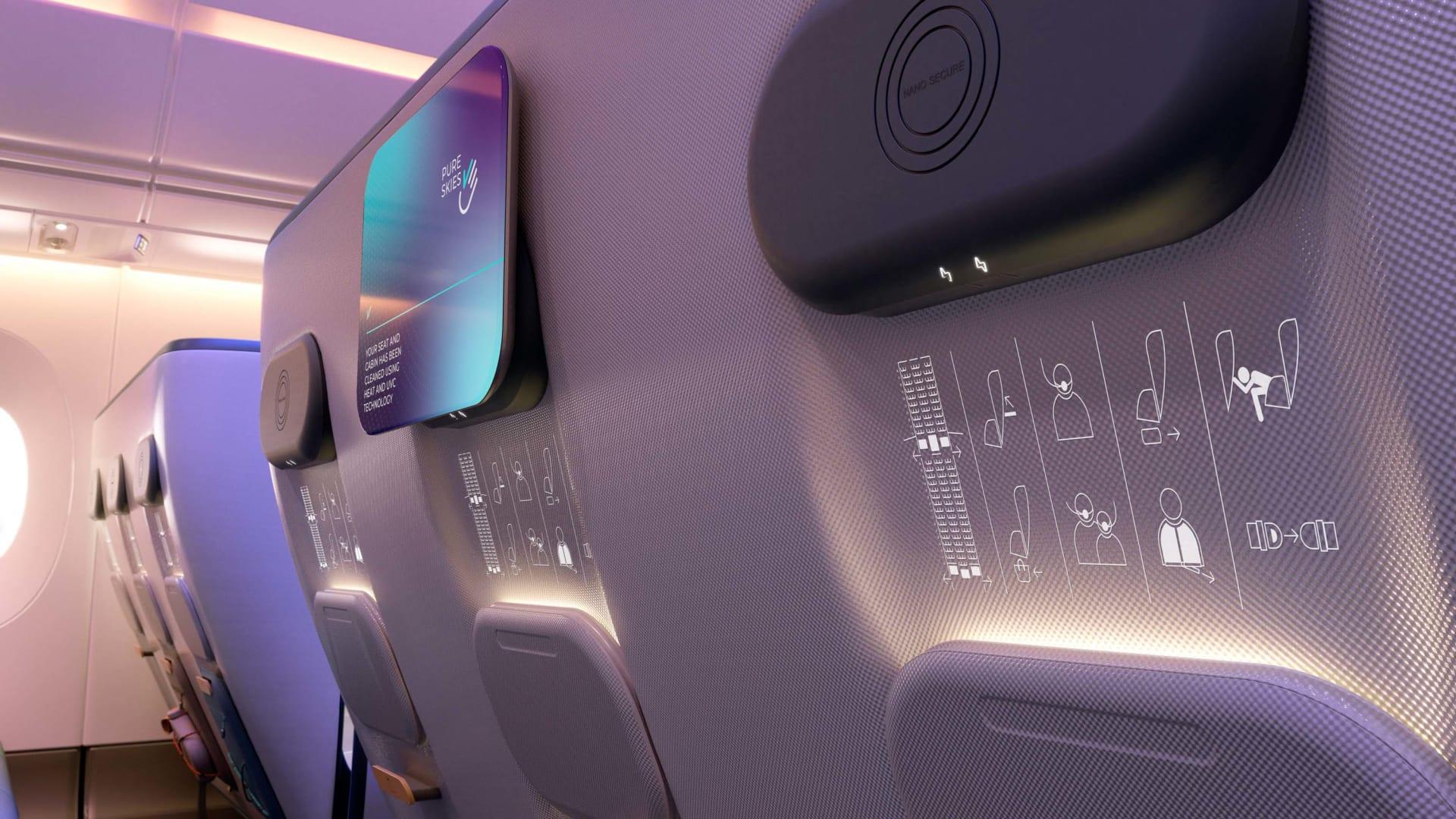 بسبب فيروس كورونا.. هكذا قد تبدو كابينات الطائرات في المستقبل