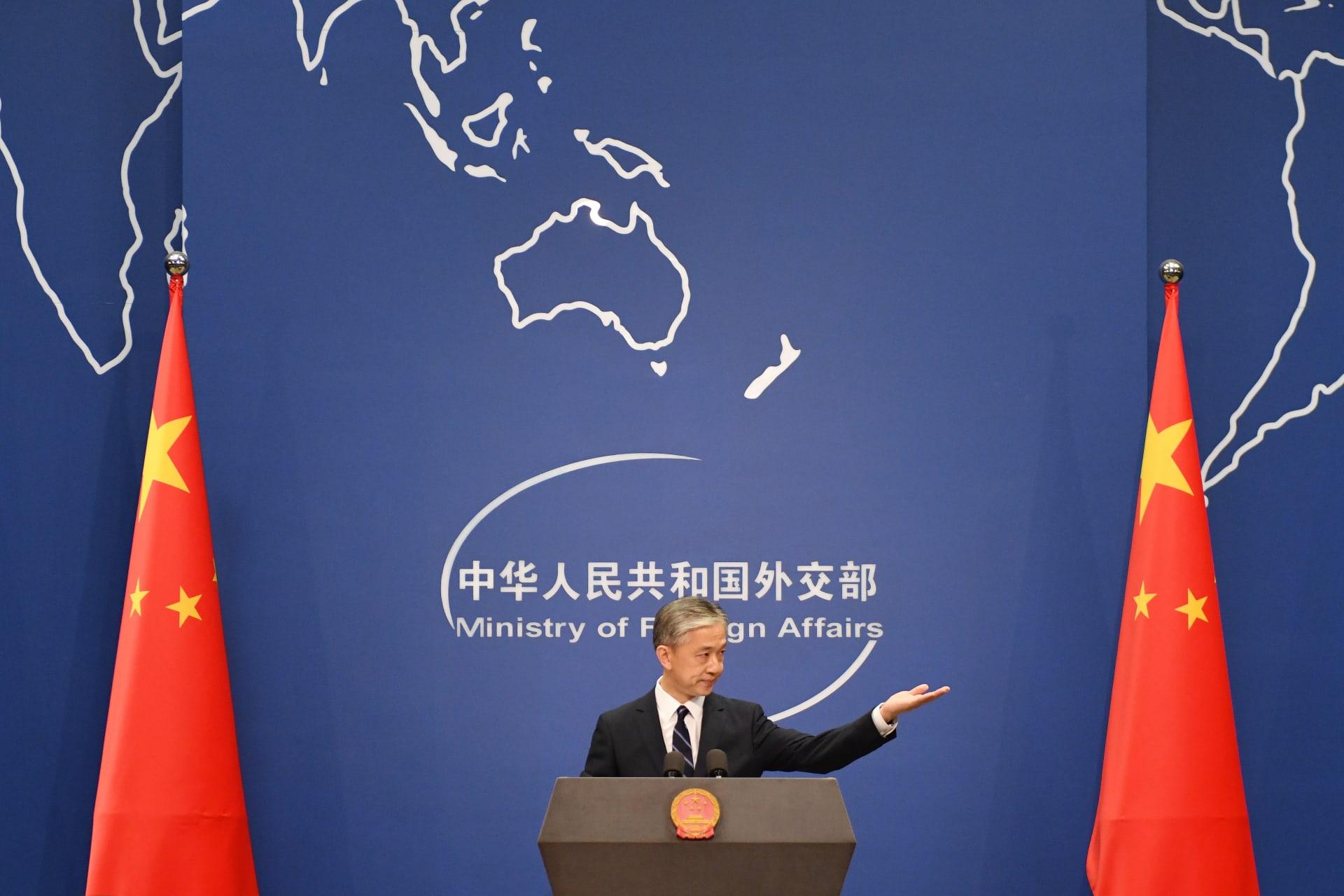 وانغ وين بين المتحدث باسم الخارجية الصينية خلال الإيجاز الصحفي اليومي في العاصمة بكين