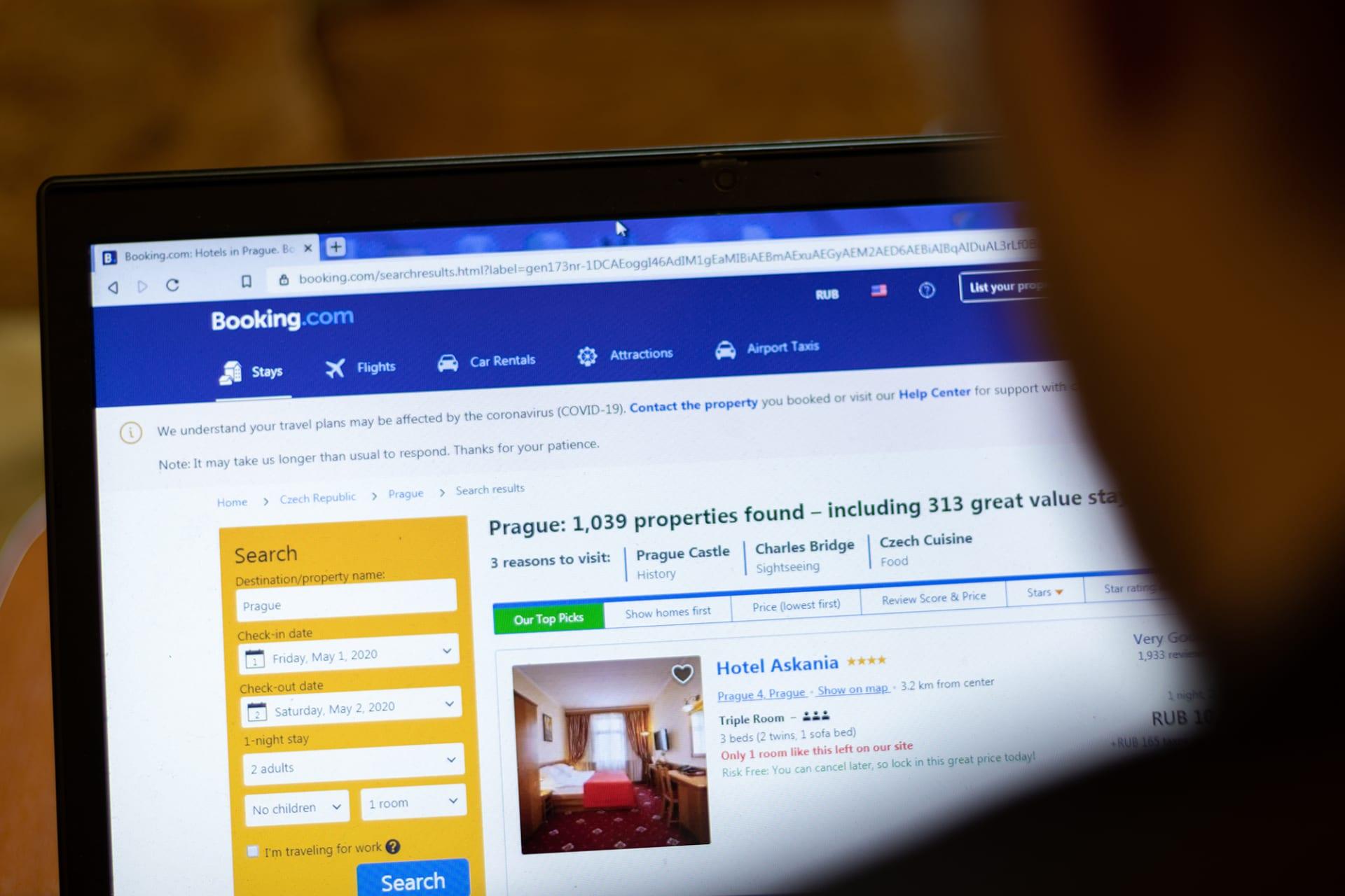 موقع الحجوزات Booking.com يسرح 25٪ من موظفيه حول العالم