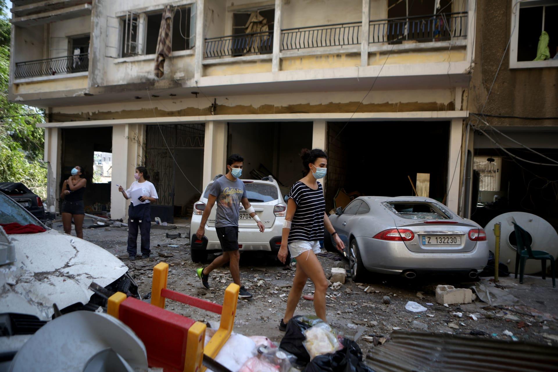شارع مار مخايل المتضرر من تفجير مرفأ بيروت