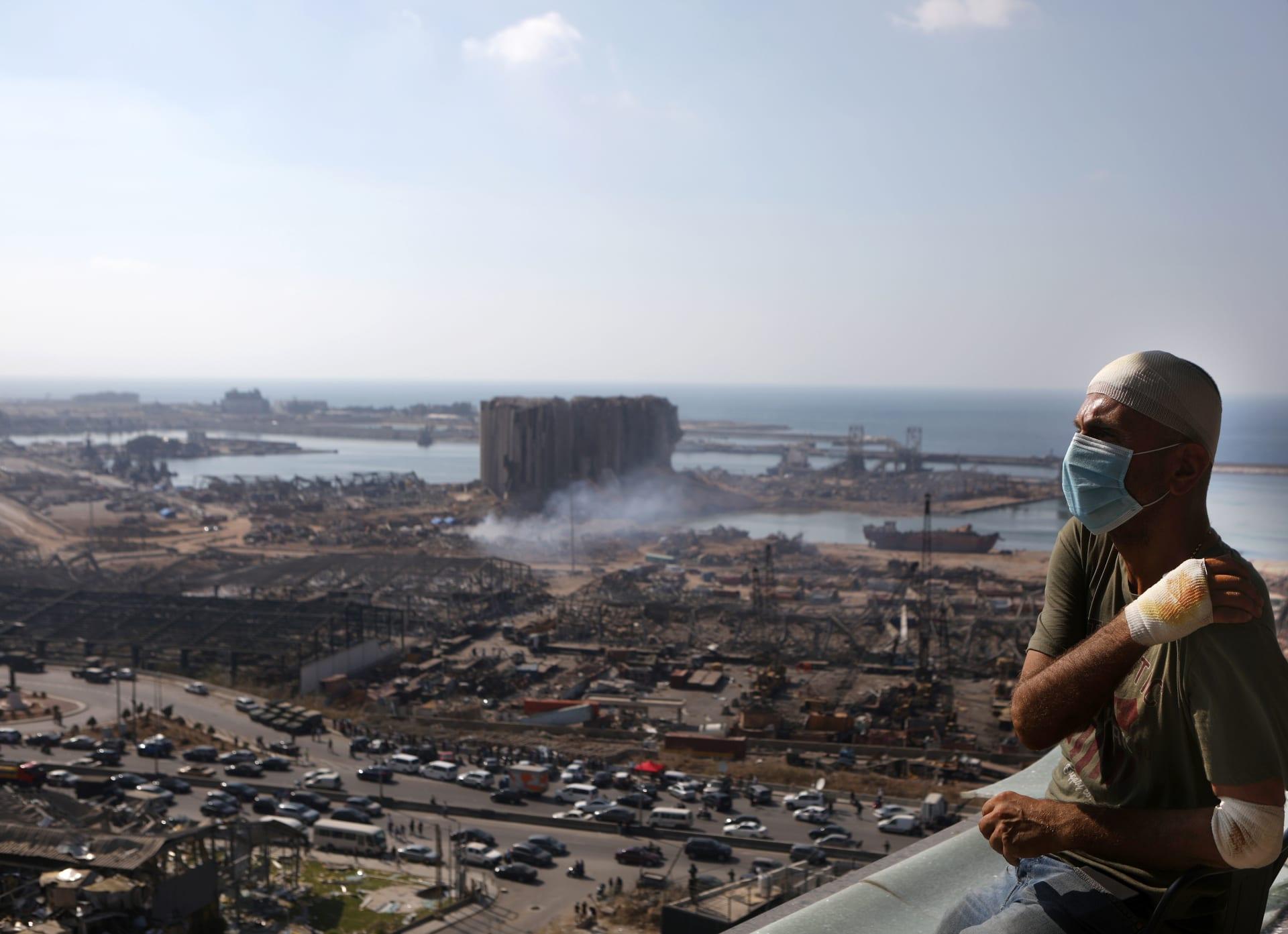آثار انفجار مرفأ بيروت