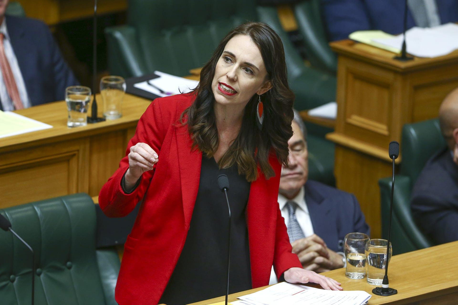 رئيسة وزراء نيوزلندا جاسيندا أرديرن في كلمة أمام البرلمان