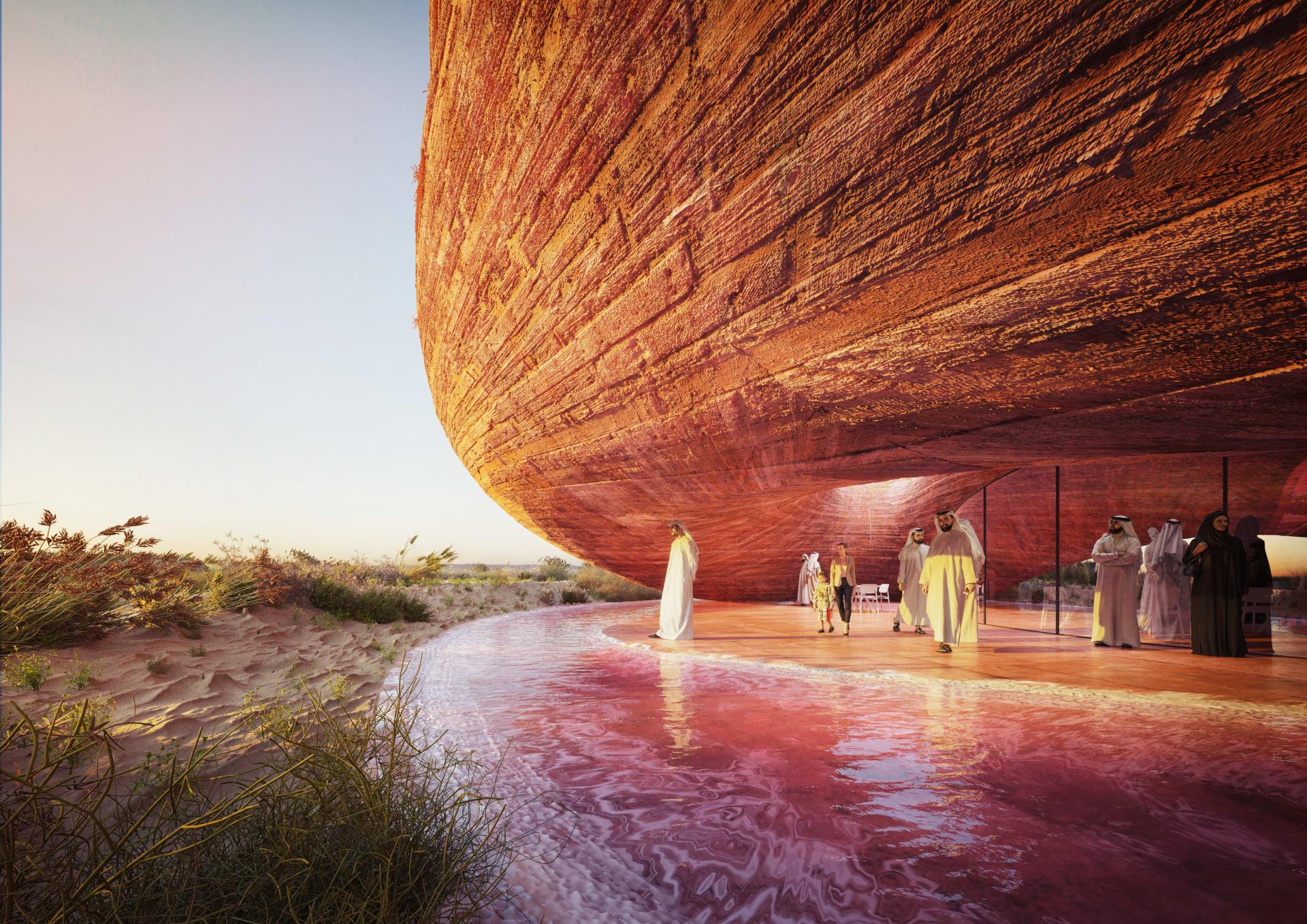"""تصميمه """"يذوب"""" في البيئة التي تحيط به.. تعرف على المبنى الجديد الذي سيزين محمية الوثبة بأبوظبي"""