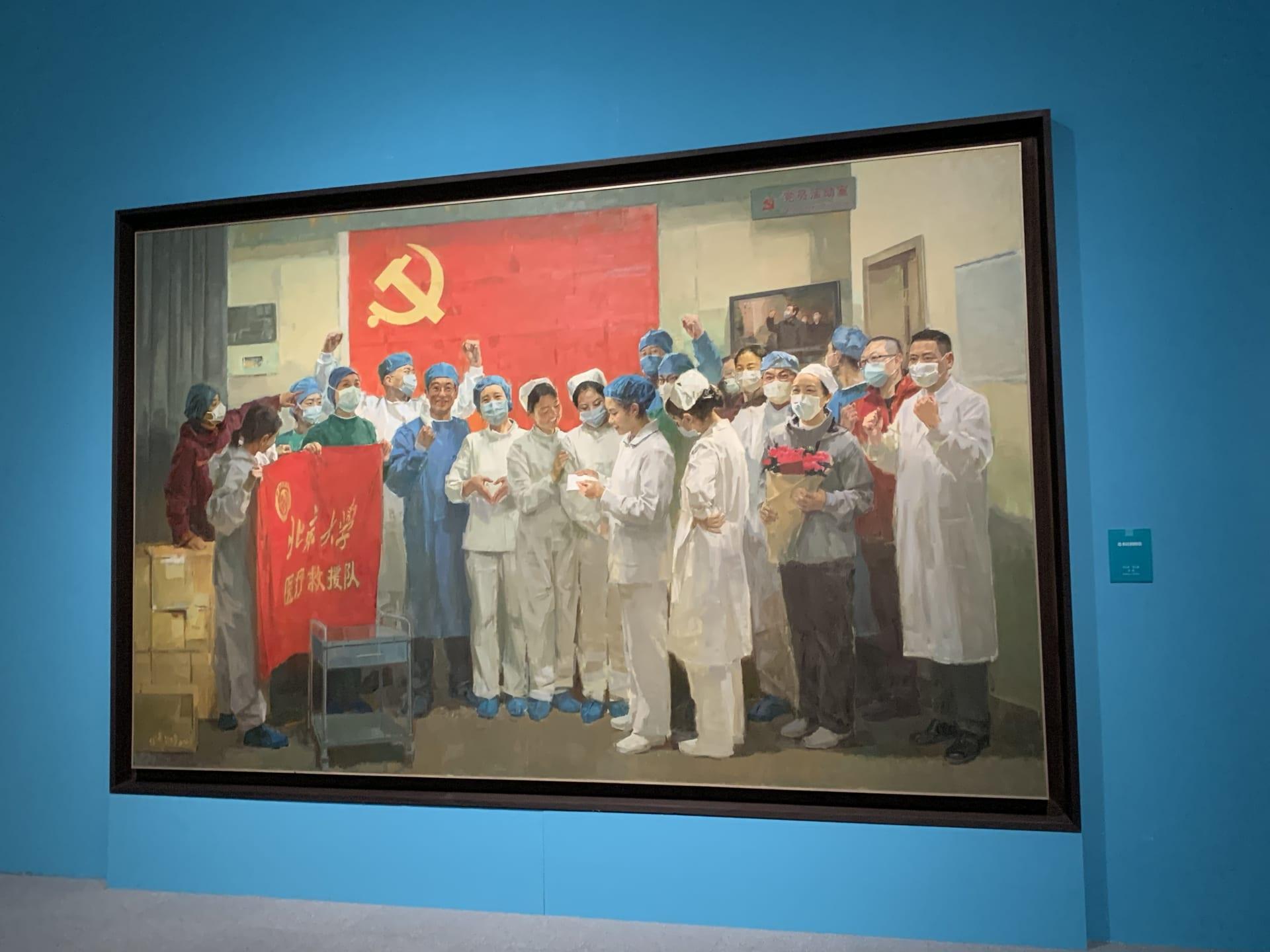 """هذا المعرض الفني في بكين """"يمجّد"""" استجابة الصين لجائحة فيروس كورونا"""