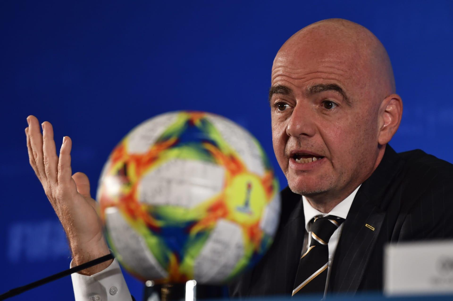 رئيس الاتحاد الدولي لكرة القدم فيفا جياني إنفانتينو