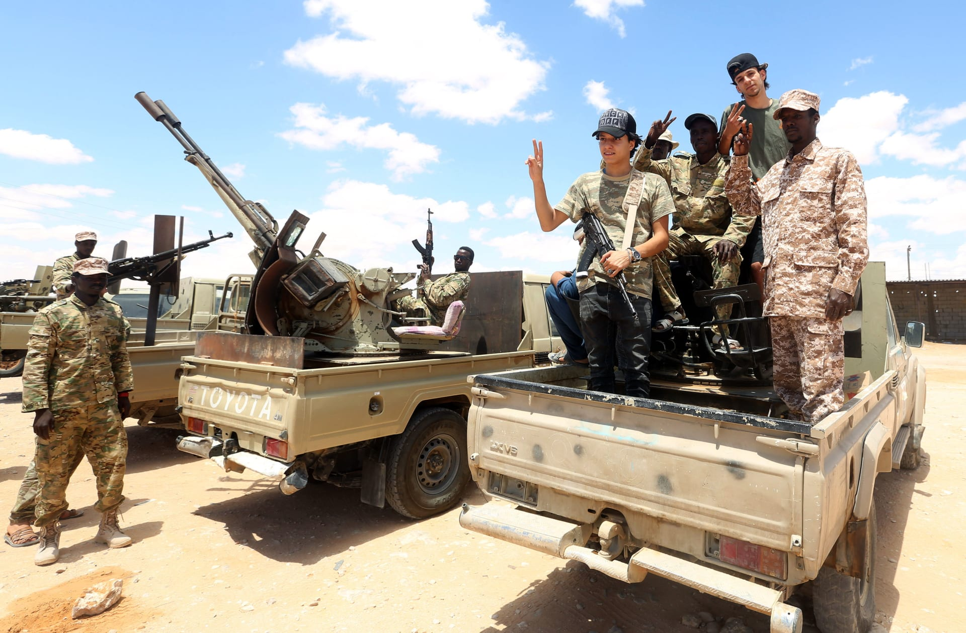 مقاتلون موالون لحكومة الوفاق الوطني في ليبيا