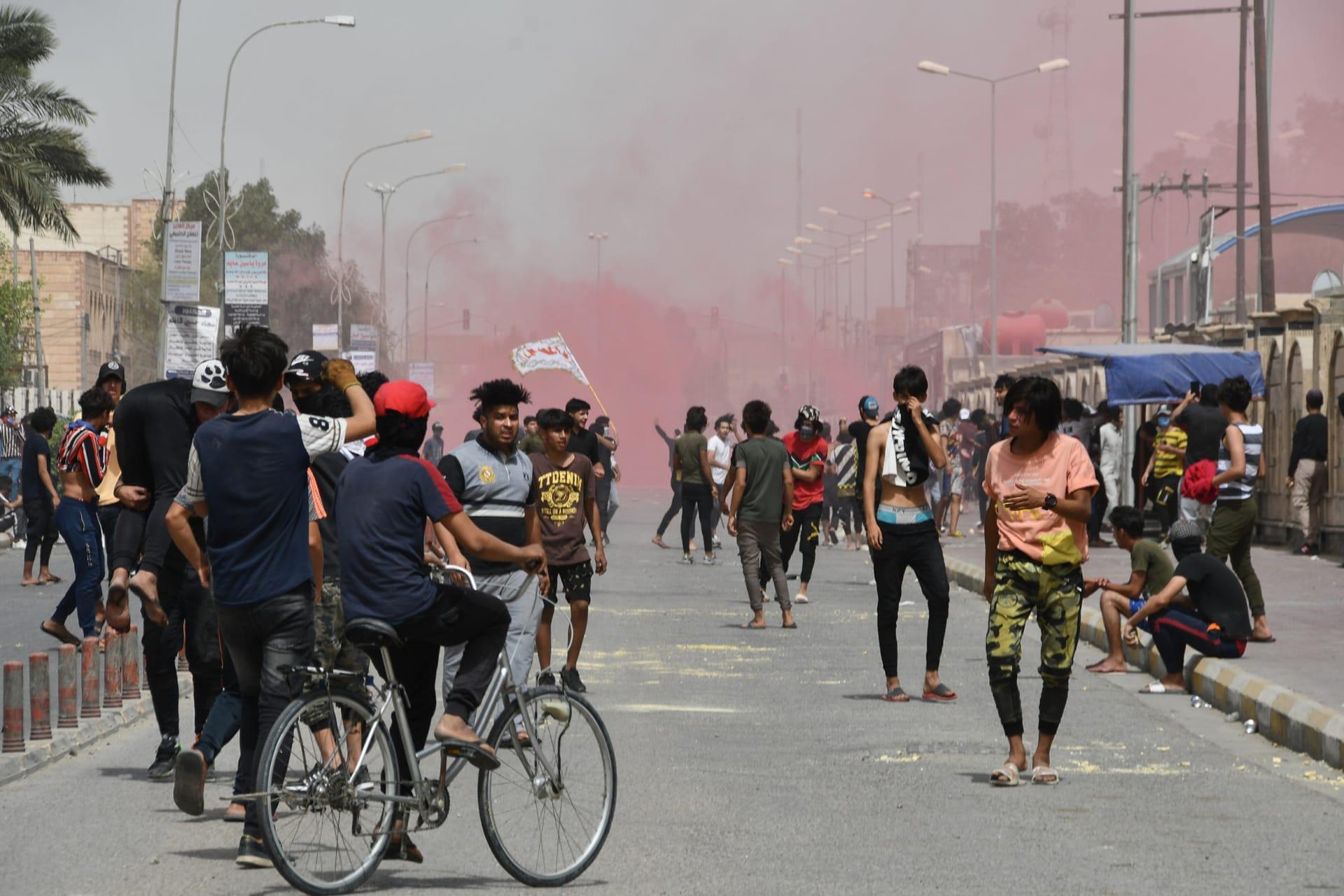 انفجار عبوة ناسفة في خيام ساحة اعتصام جنوب العراق