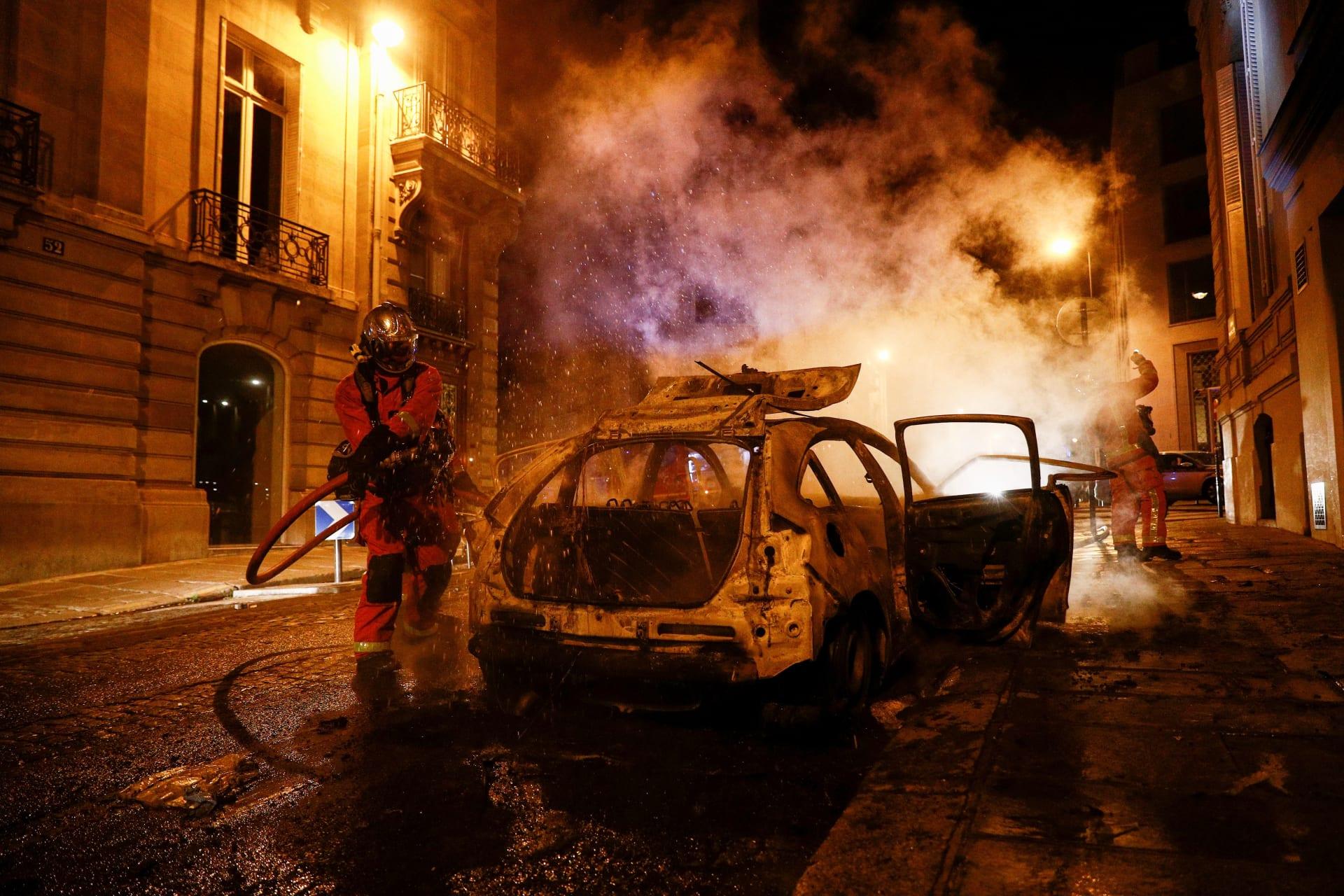 أعمال شغب ومواجهات بالعاصمة الفرنسية في أعقاب هزيمة باريس سان جيرمان في نهائي دوري الأبطال
