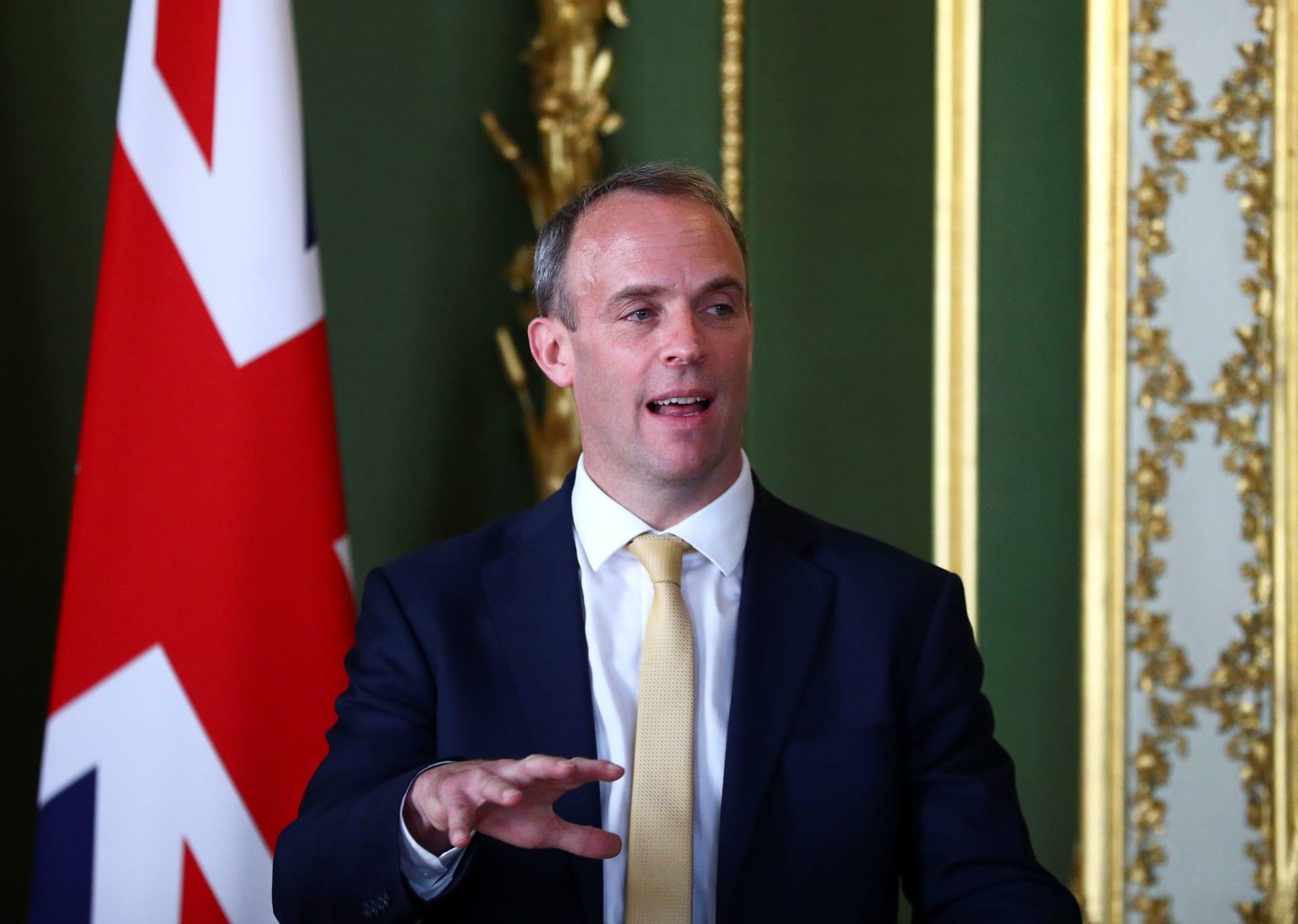 وزير الخارجية البريطاني دومنيك راب