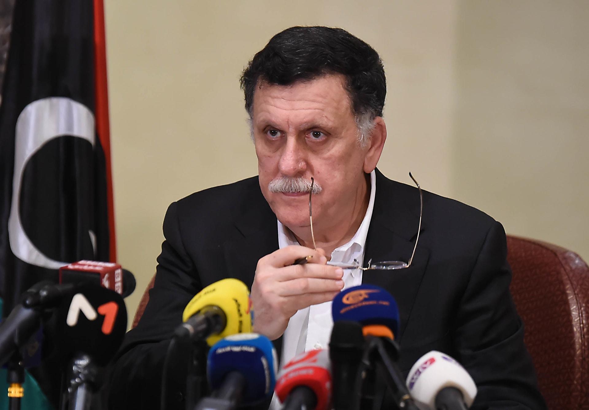 """مظاهرات طرابلس.. رئيس حكومة الوفاق: """"مندسون"""" و""""أطراف أخرى"""" شاركوا في الاحتجاجات"""