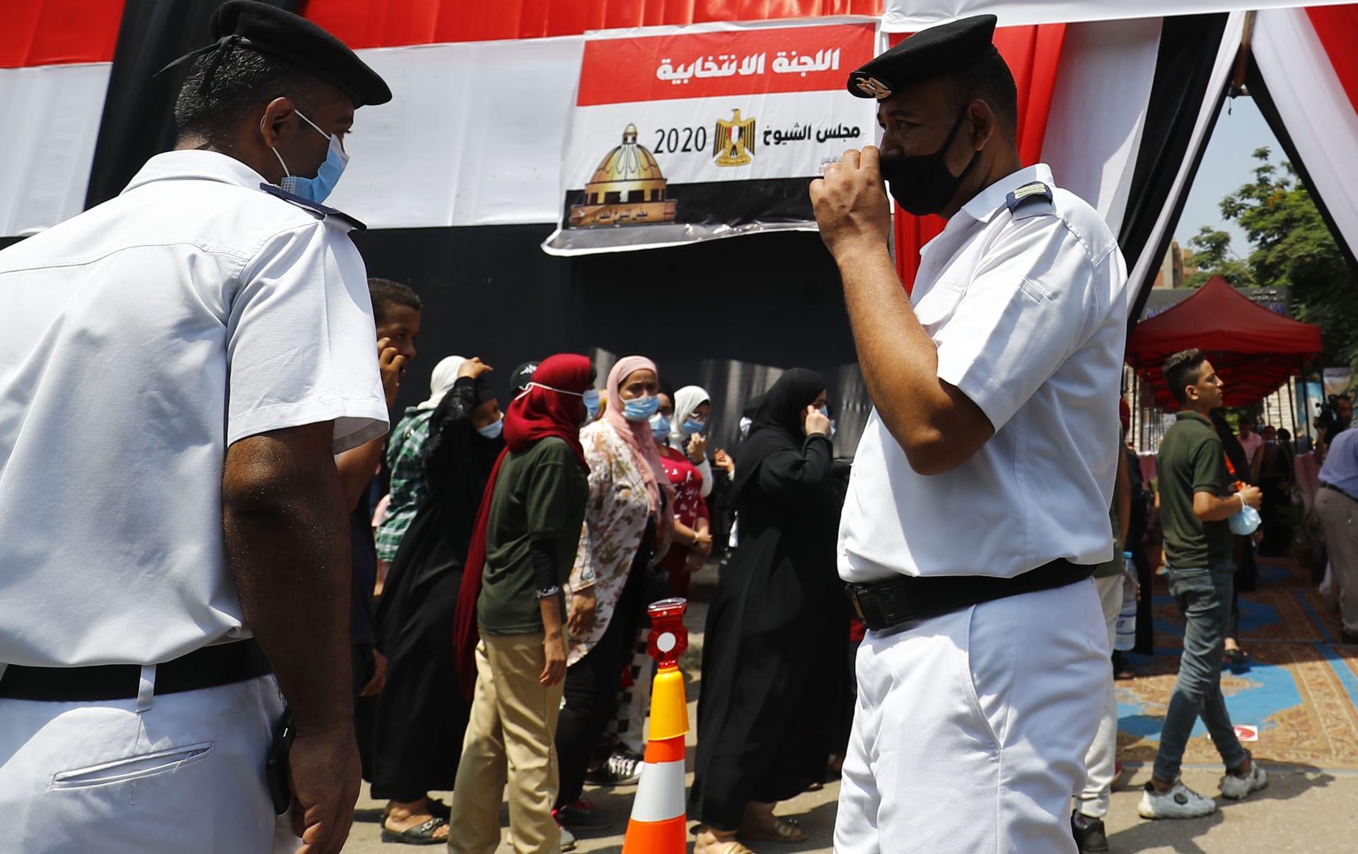 صورة أرشيفية من انتخابات مجلس الشيوخ في مصر 2020