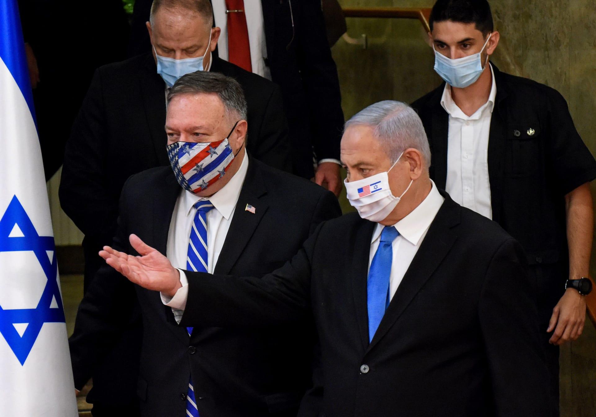 رئيس الوزراء الإسرائيلي بنيامين نتنياهو يستقبل وزير الخارجية الأمريكي مايك بومبيو