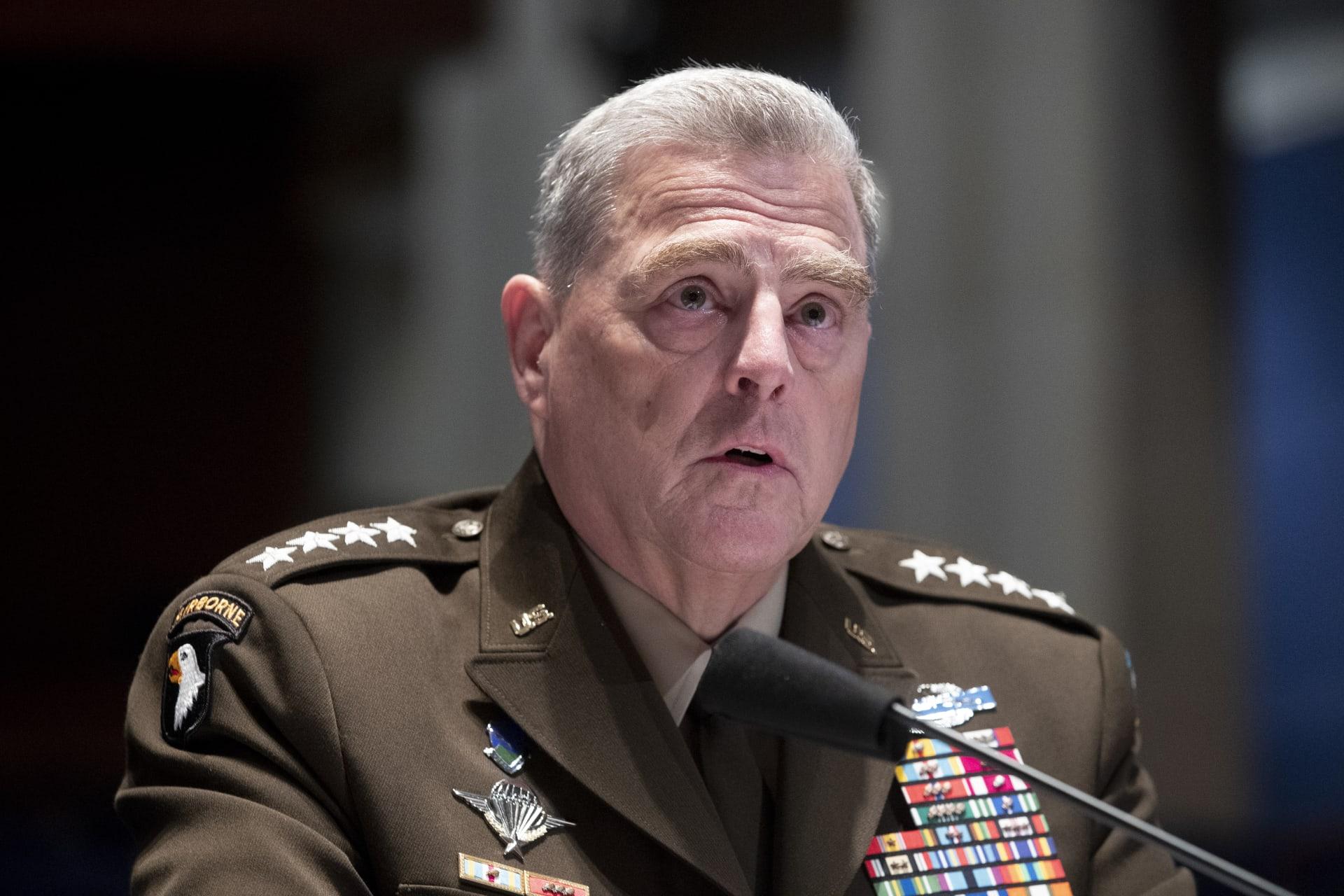 ميلي: الجيش الأمريكي لن يلعب دورًا في انتخابات الرئاسة.. والمحاكم معنية بحل الخلافات