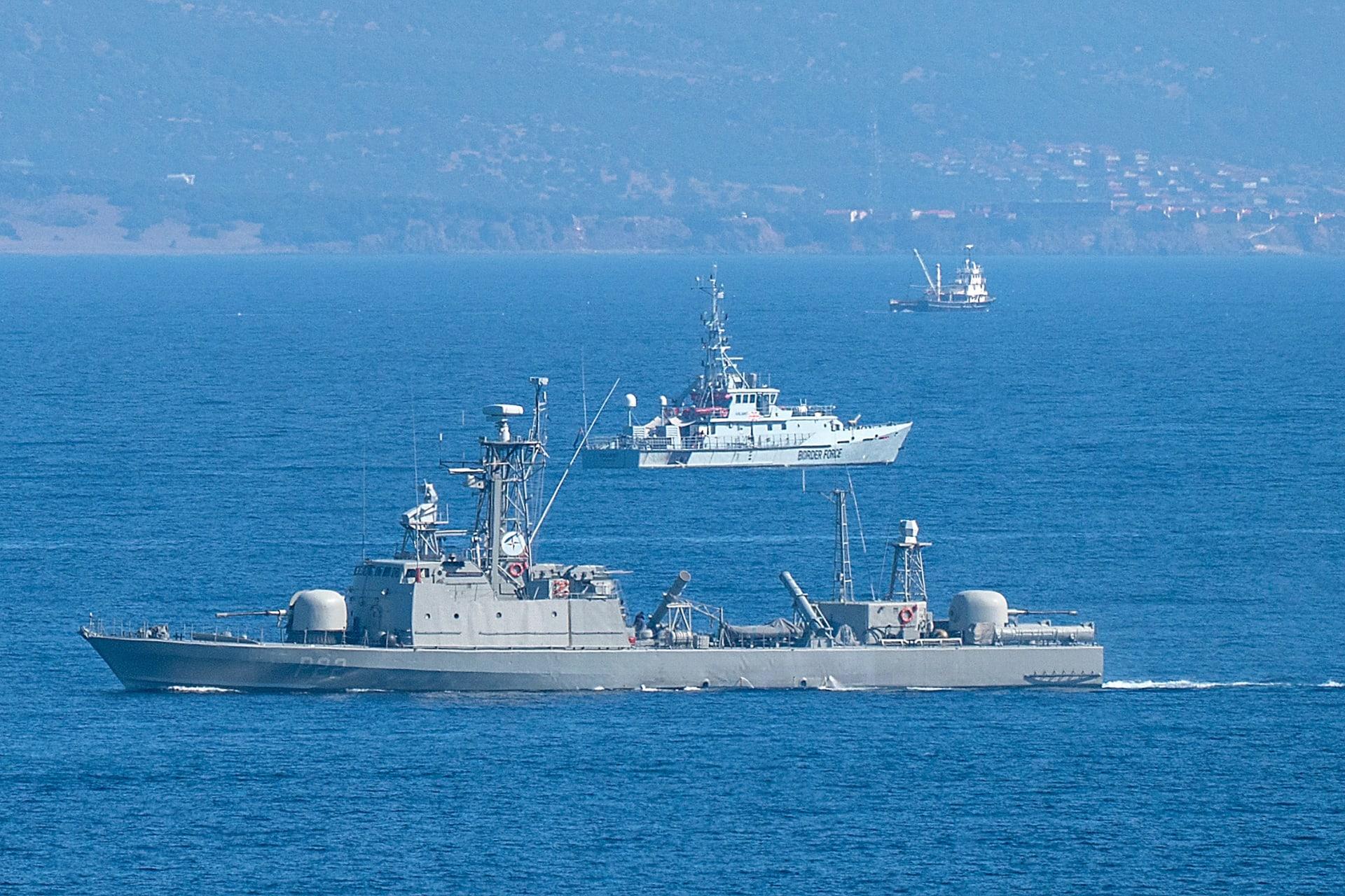 قطع بحرية يونانية في شرق البحر المتوسط
