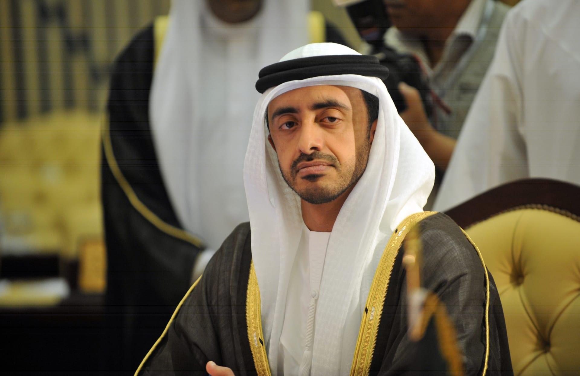 الشيخ عبد الله بن زايد وزير الخارجية الإماراتي