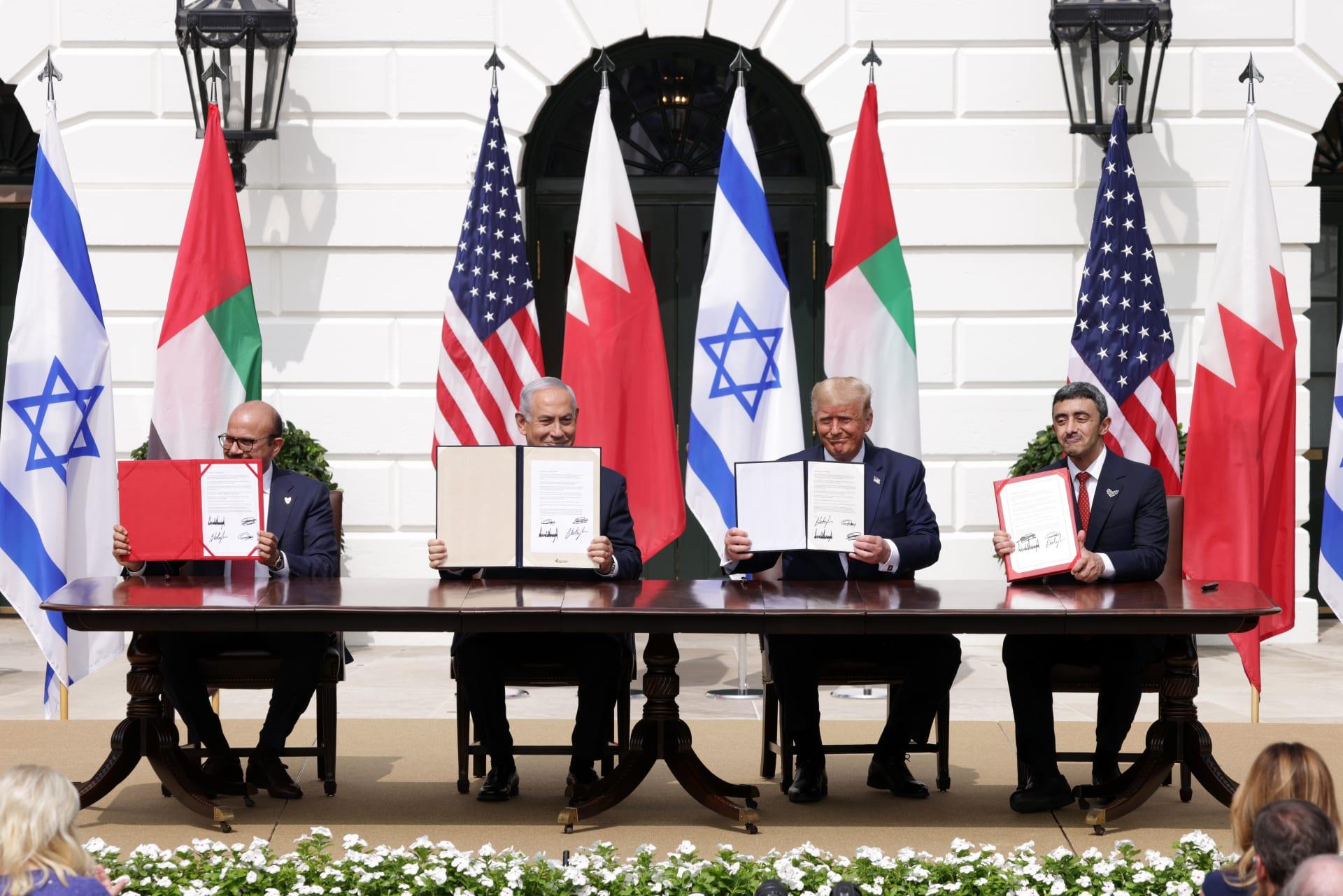 حفل توقيع اتفاقات السلام في البيت الأبيض