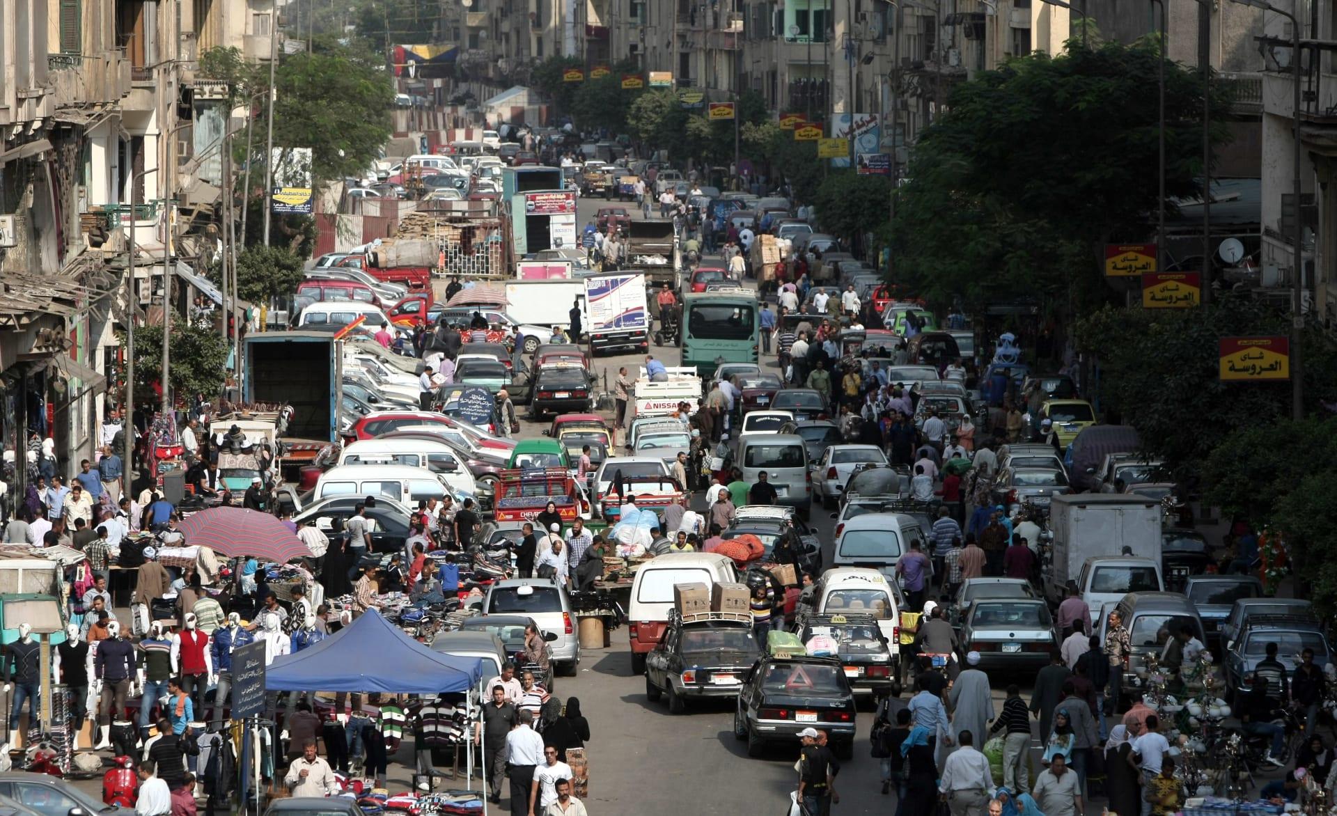 صورة أرشيفية عامة لسوق في مصر