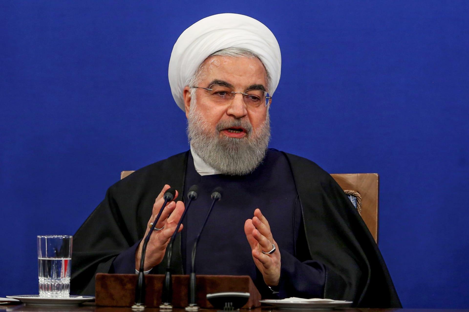 """روحاني: إيران سترد على """"البلطجة"""" الأمريكية.. ومستعدة للالتزام بالاتفاق النووي"""