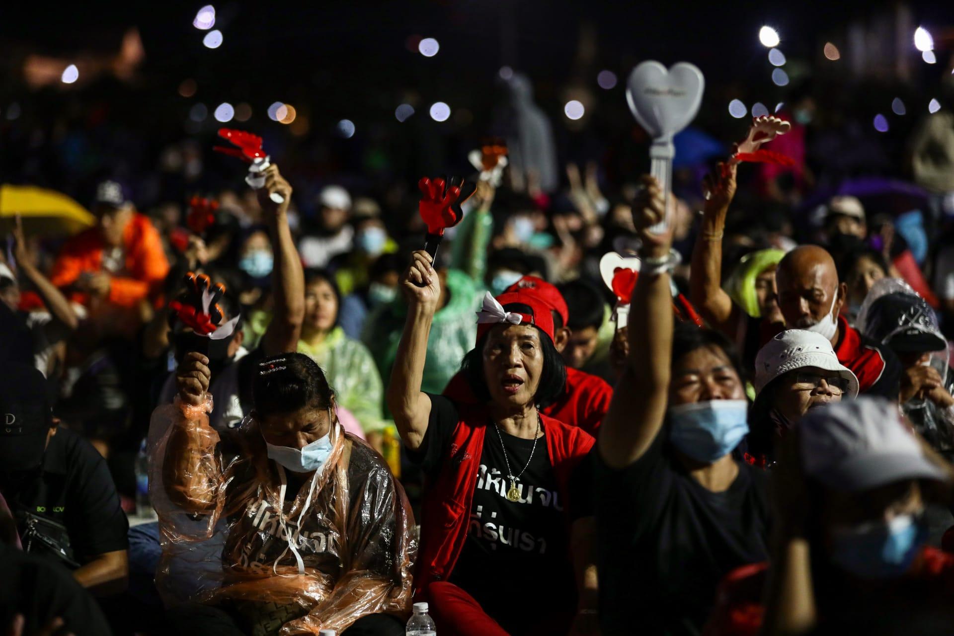 """متظاهرو تايلاند يعلنون """"النصر"""" في مسيرات إصلاح الملكية بعد تسليم مطالبهم للسلطات"""