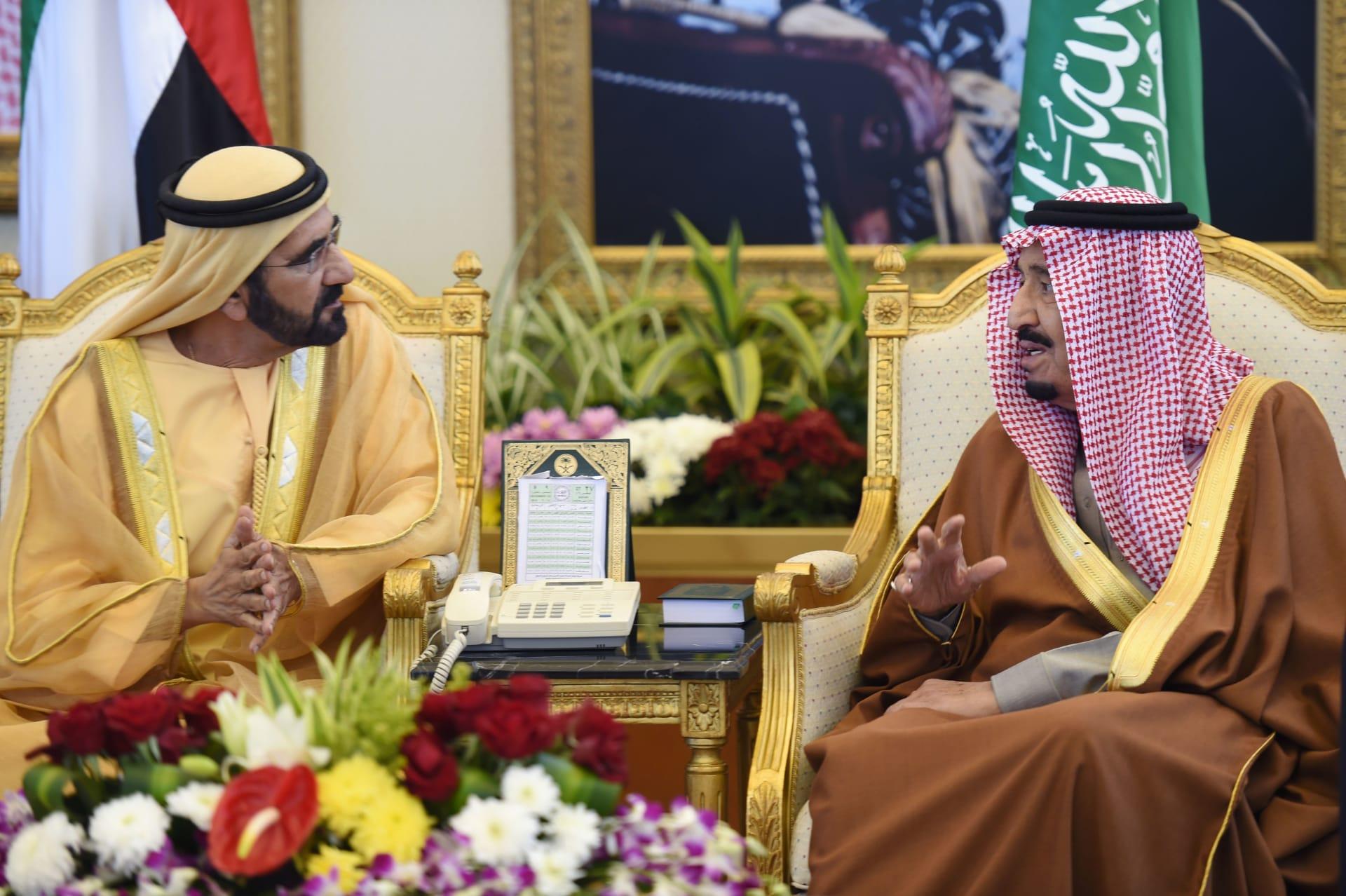 رسالتان صوتيتان من ولي عهد أبوظبي وحاكم دبي للسعودية بمناسبة اليوم الوطني