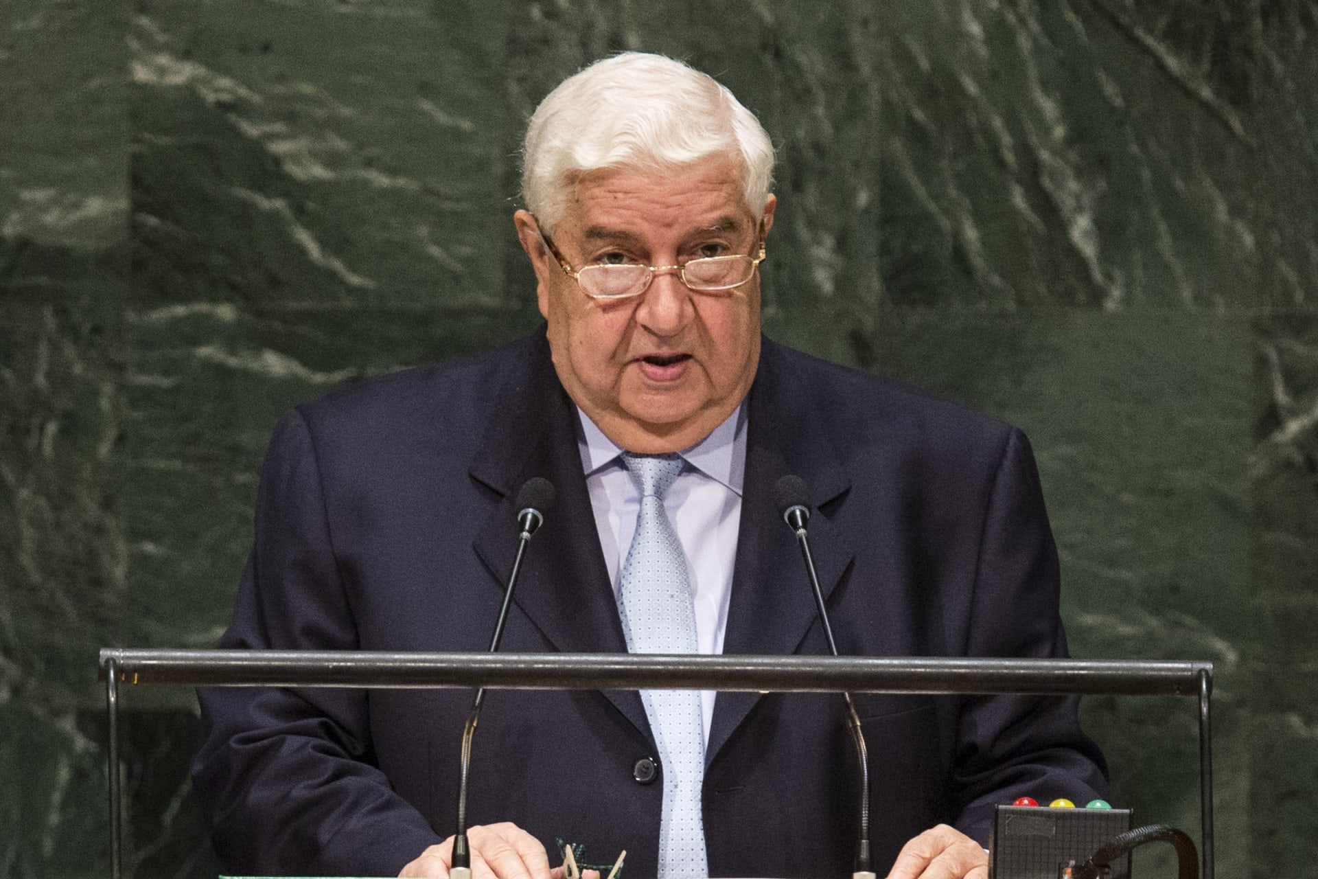 """وزير الخارجية السوري: """"النظام التركي"""" بات مارقا وخارجا عن الشرعية,, ونقف مع إيران"""