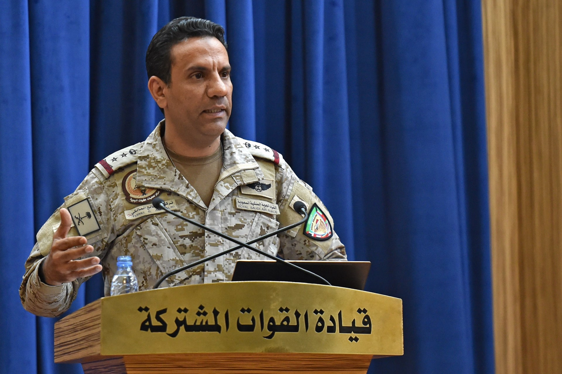 العقيد الركن تركي المالكي، المتحدث باسم التحالف الذي تقوده السعودية في اليمن