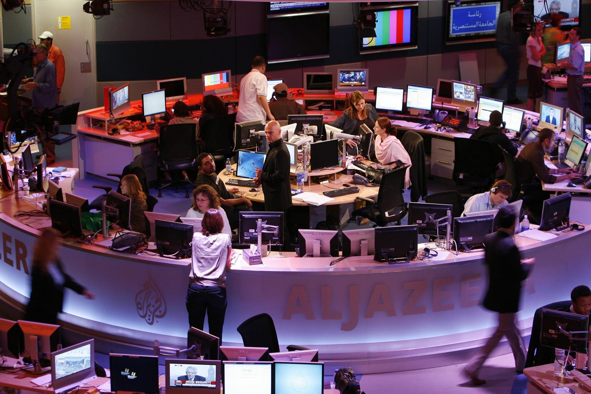 صورة ارشيفية من داخل مقر قناة الجزيرة في قطر العام 2006