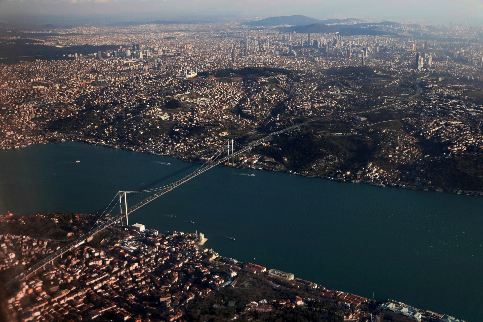 صورة أرشيفية لمضيق البسفور في تركيا