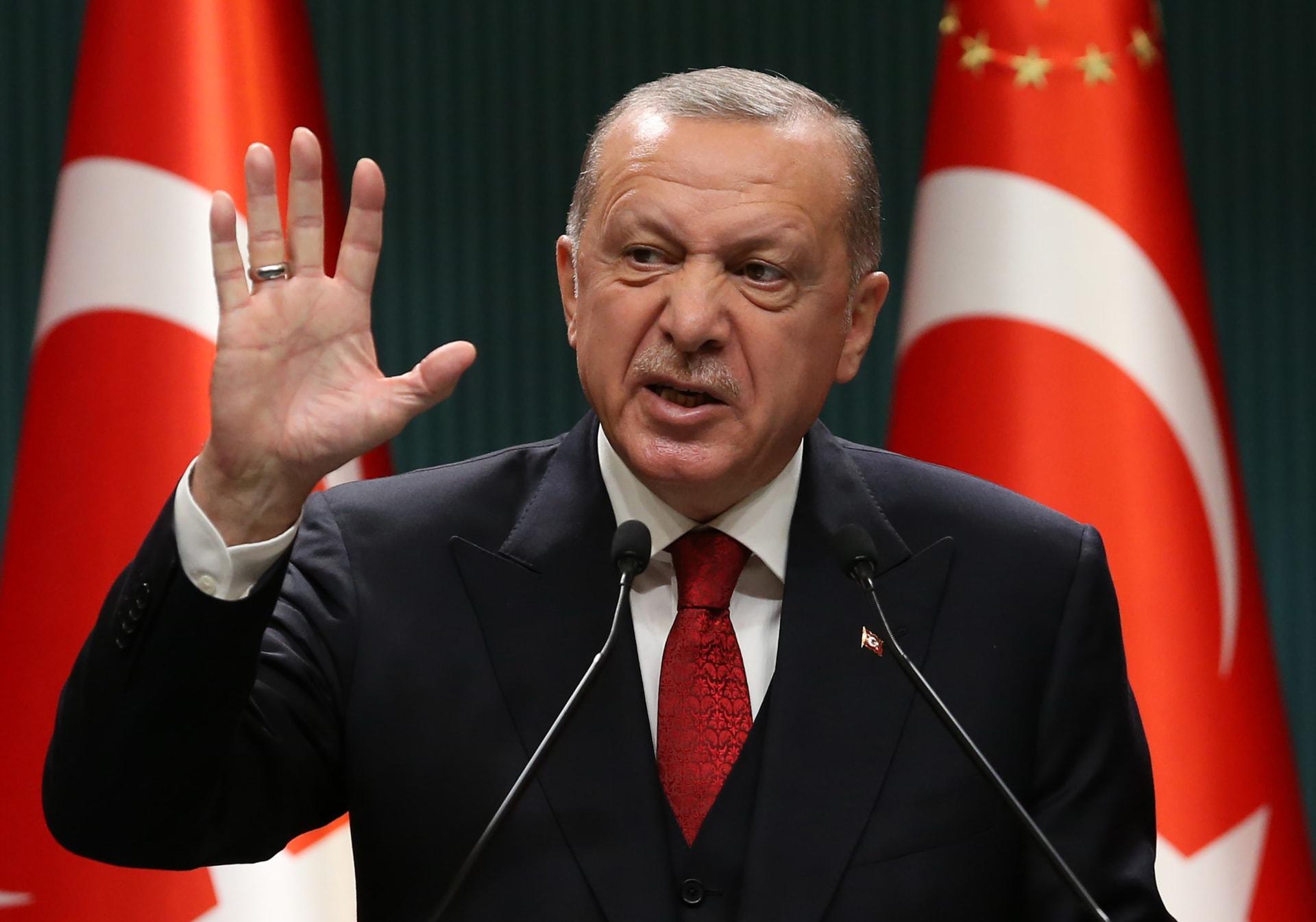 """أردوغان يتحدث عن حق بلاده شرقي المتوسط بصفتها """"وريث الحضارة العثمانية"""""""
