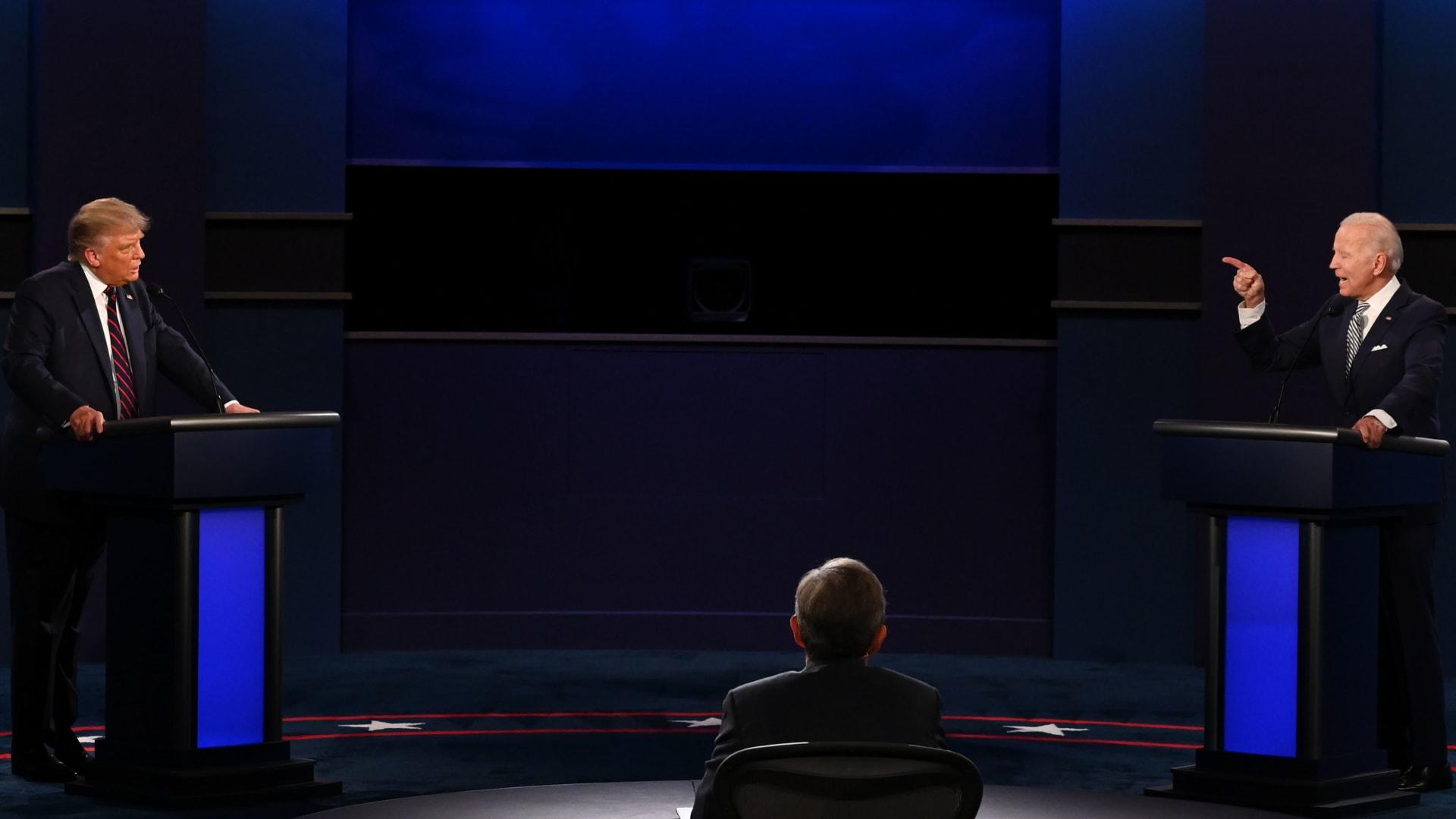 بايدن وترامب خلال المناظرة الرئاسية