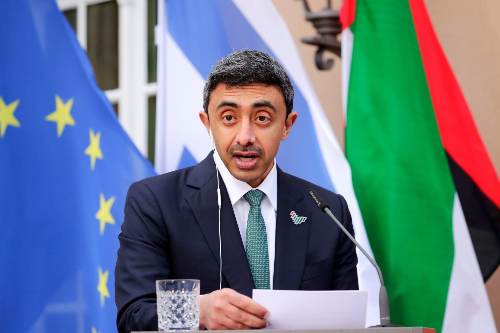 عبدلله بن زايد بمؤتمر صحفي مع نظيره الإسرائيلي: نأمل اليوم أن نصنع التاريخ