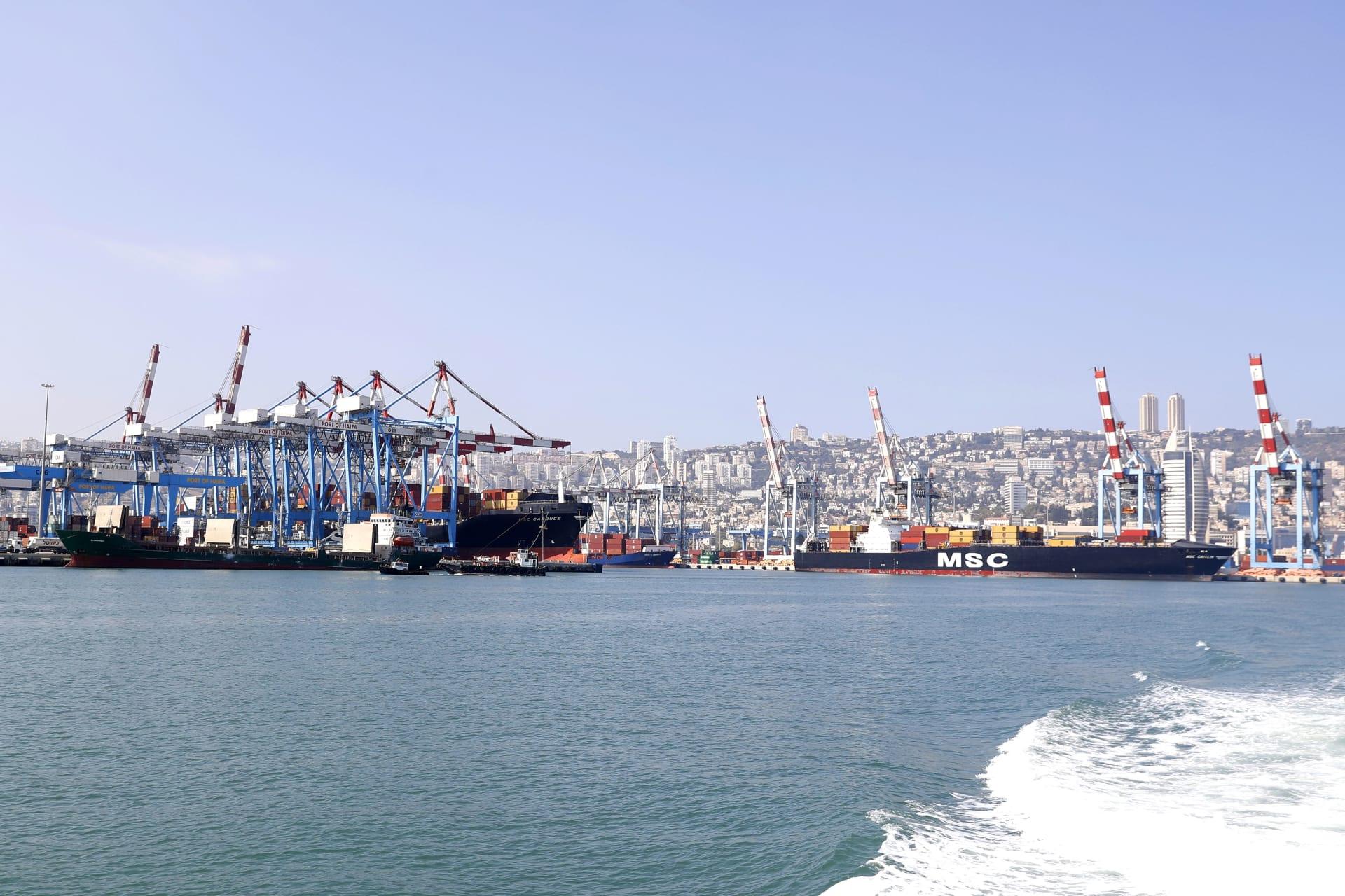 صورة ارشيفية من ميناء حيفا العام 2019