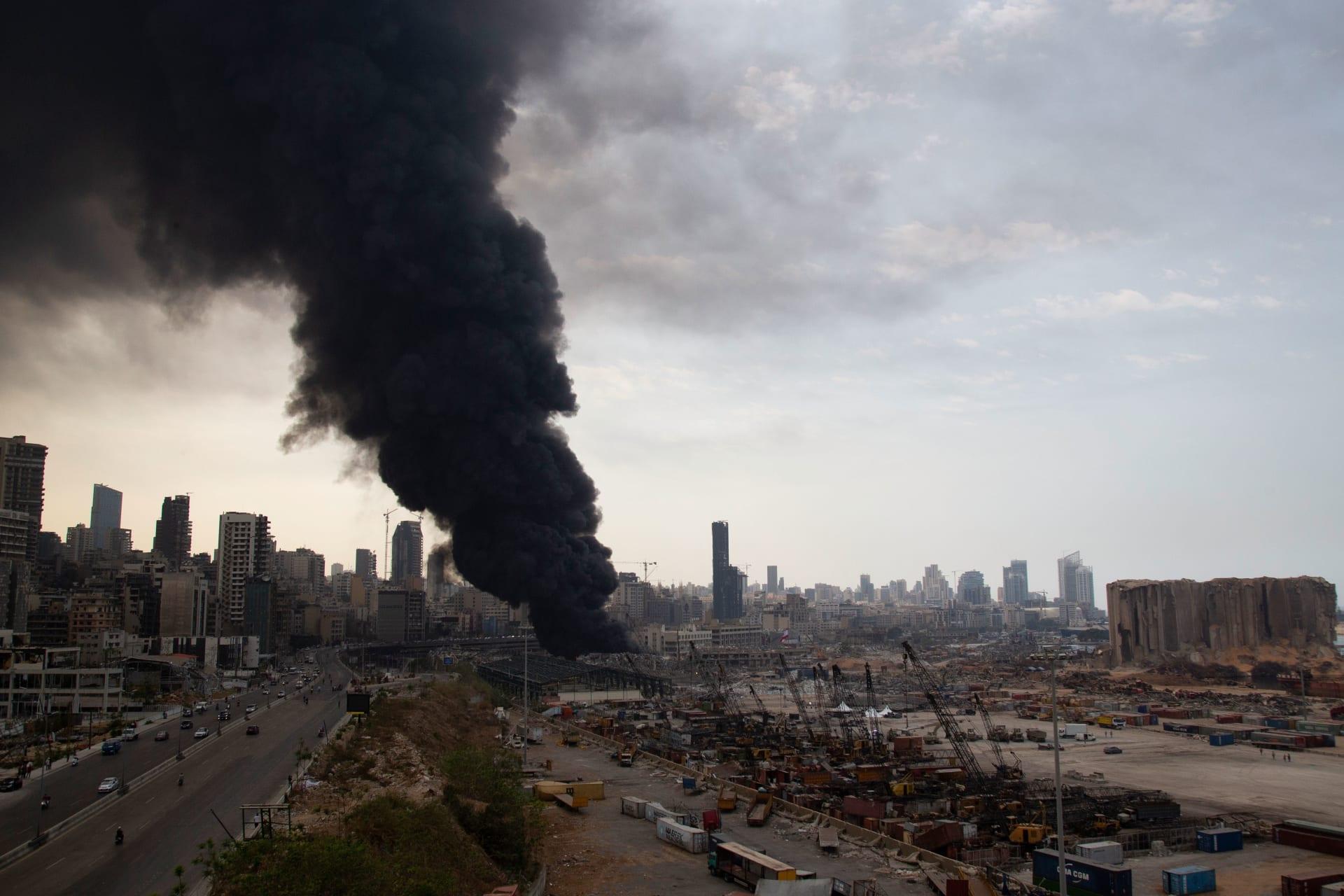 """بعد أكثر من شهرين على الانفجار.. """"تنين البحر"""" يظهر في مرفأ بيروت"""