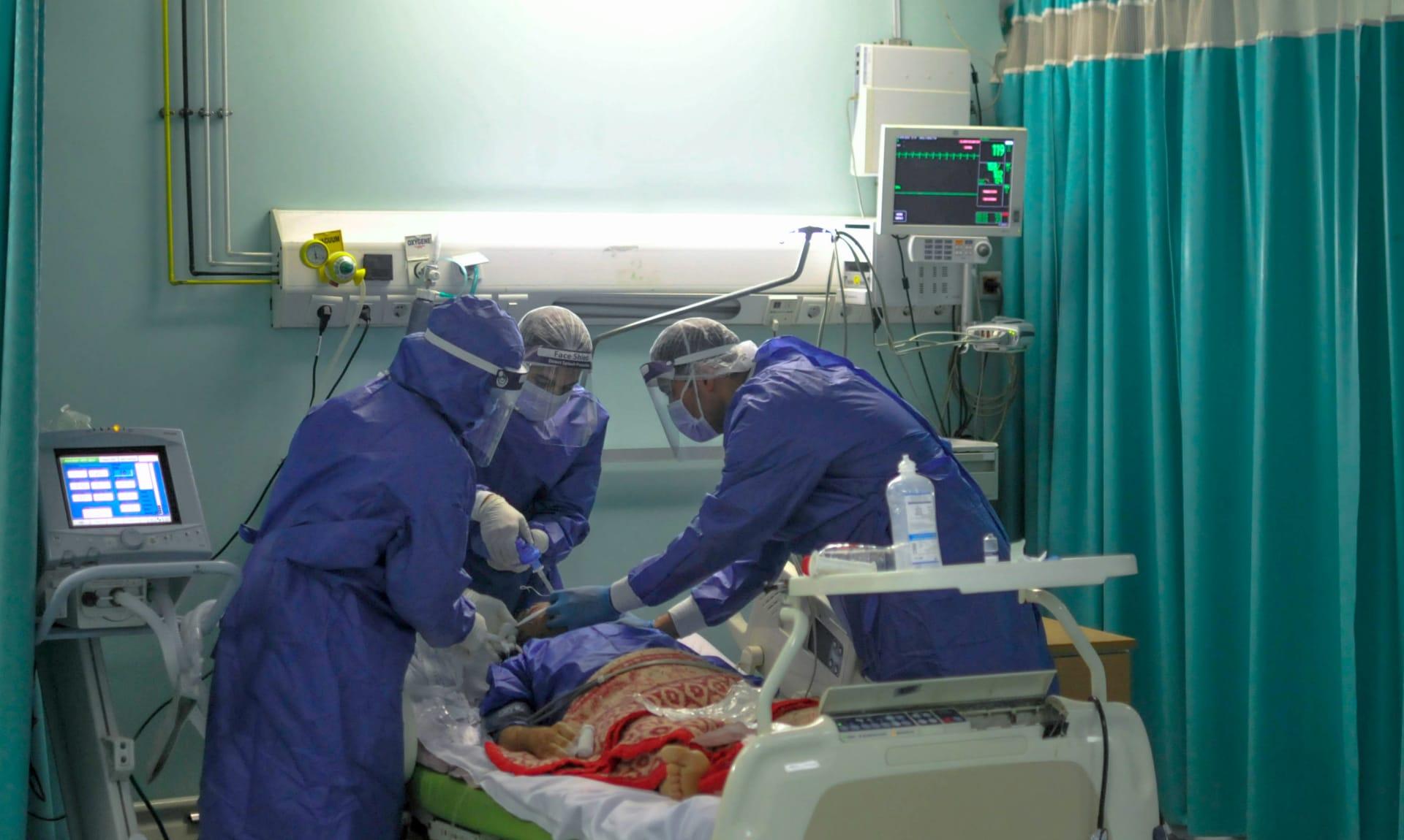 صورة ارشيفية من داخل مركز حجر صحي بمستشفى في مصر