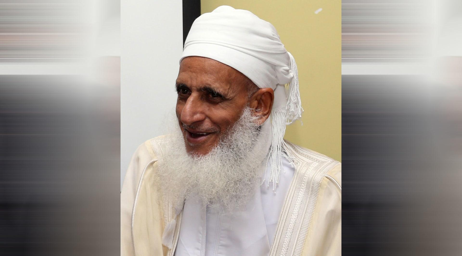 صورة ارشيفية لمفتي عمان أحمد الخليلي العام 2014