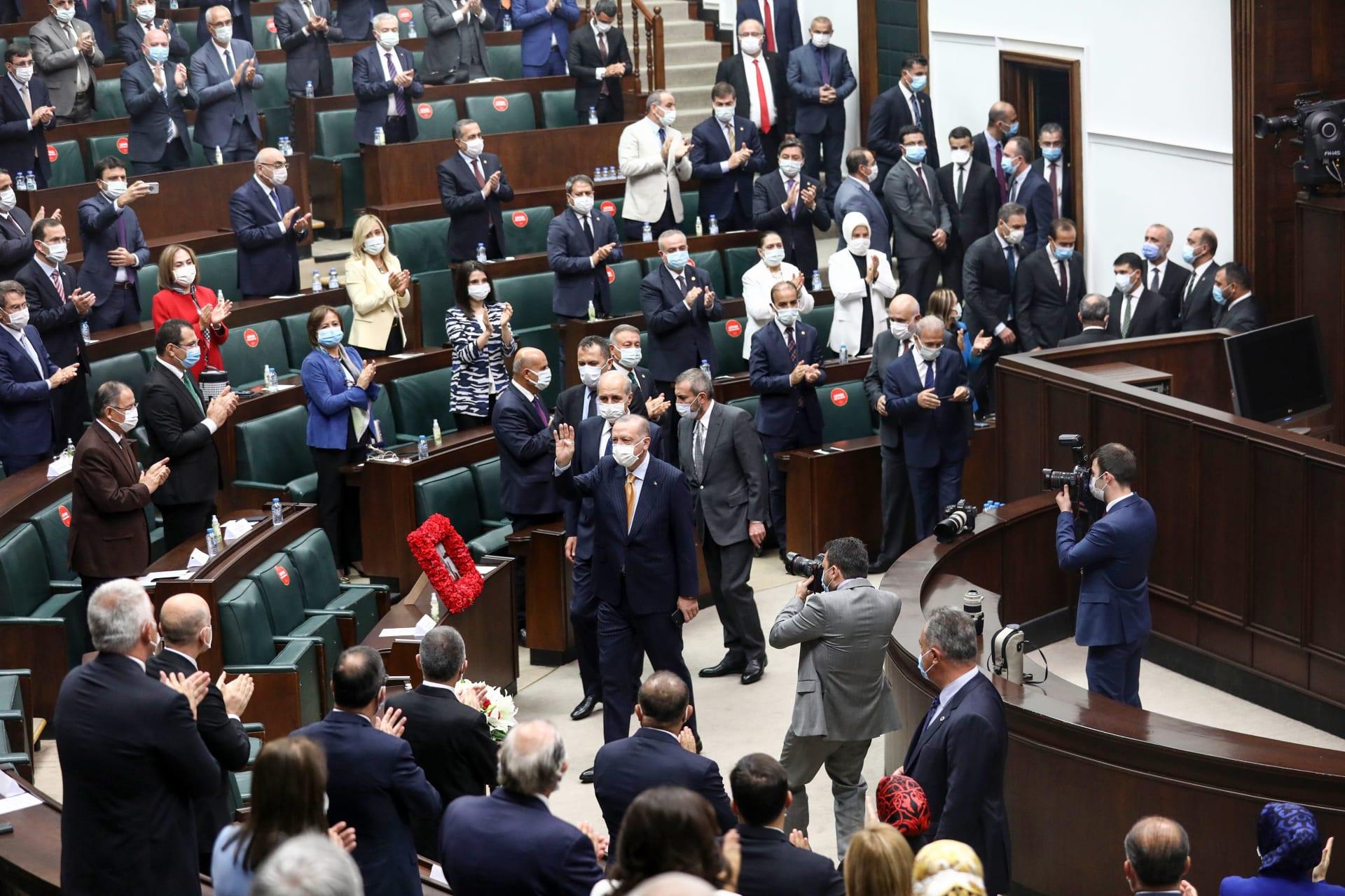 صورة أرشيفية لأردوغان في البرلمان التركي