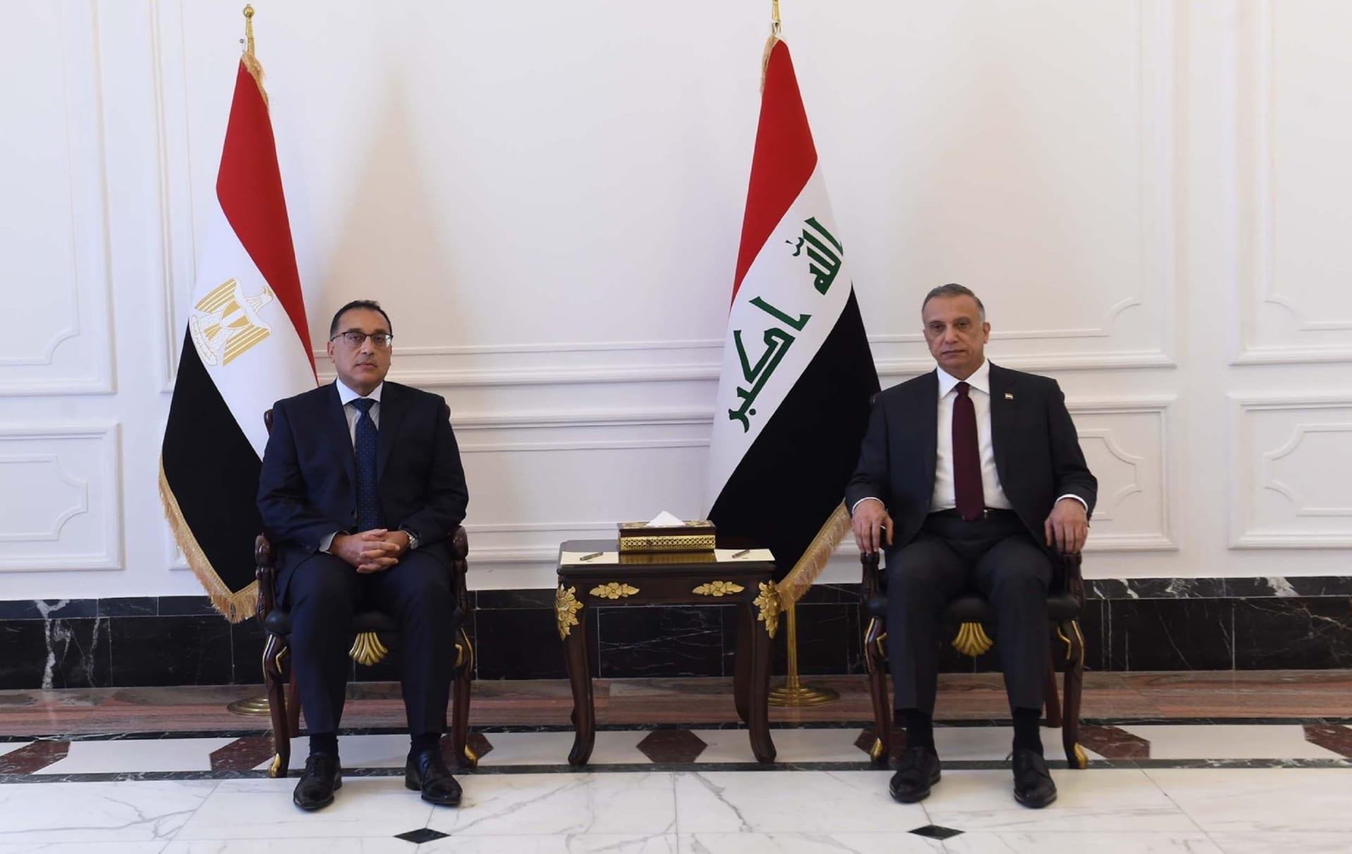 العراق ومصر يوقعان 15 مذكرة تفاهم خلال زيارة مدبولي إلى بغداد